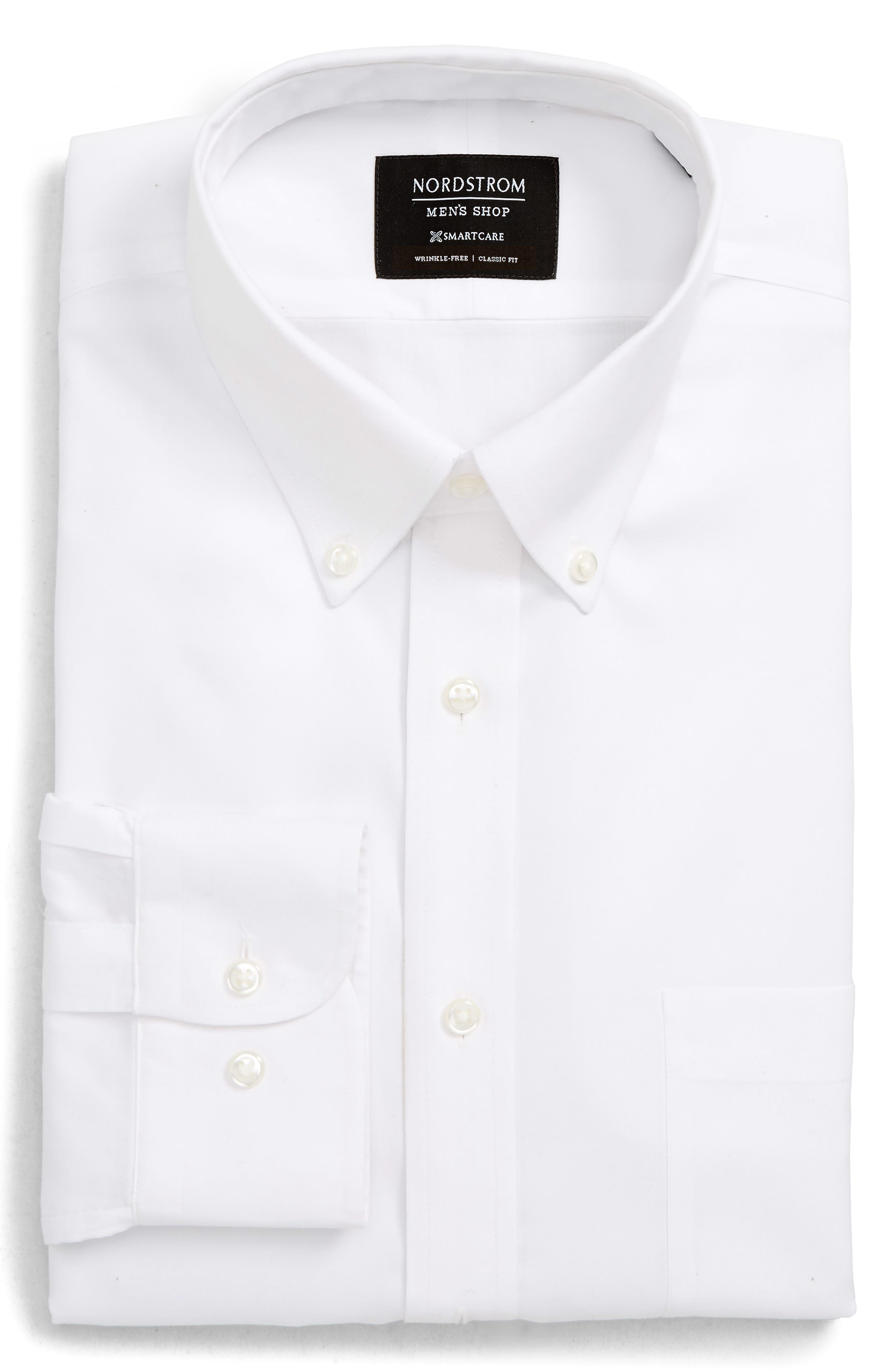 Nordstrom Shop Smartcare(TM) Classic Fit Dress Shirt - White