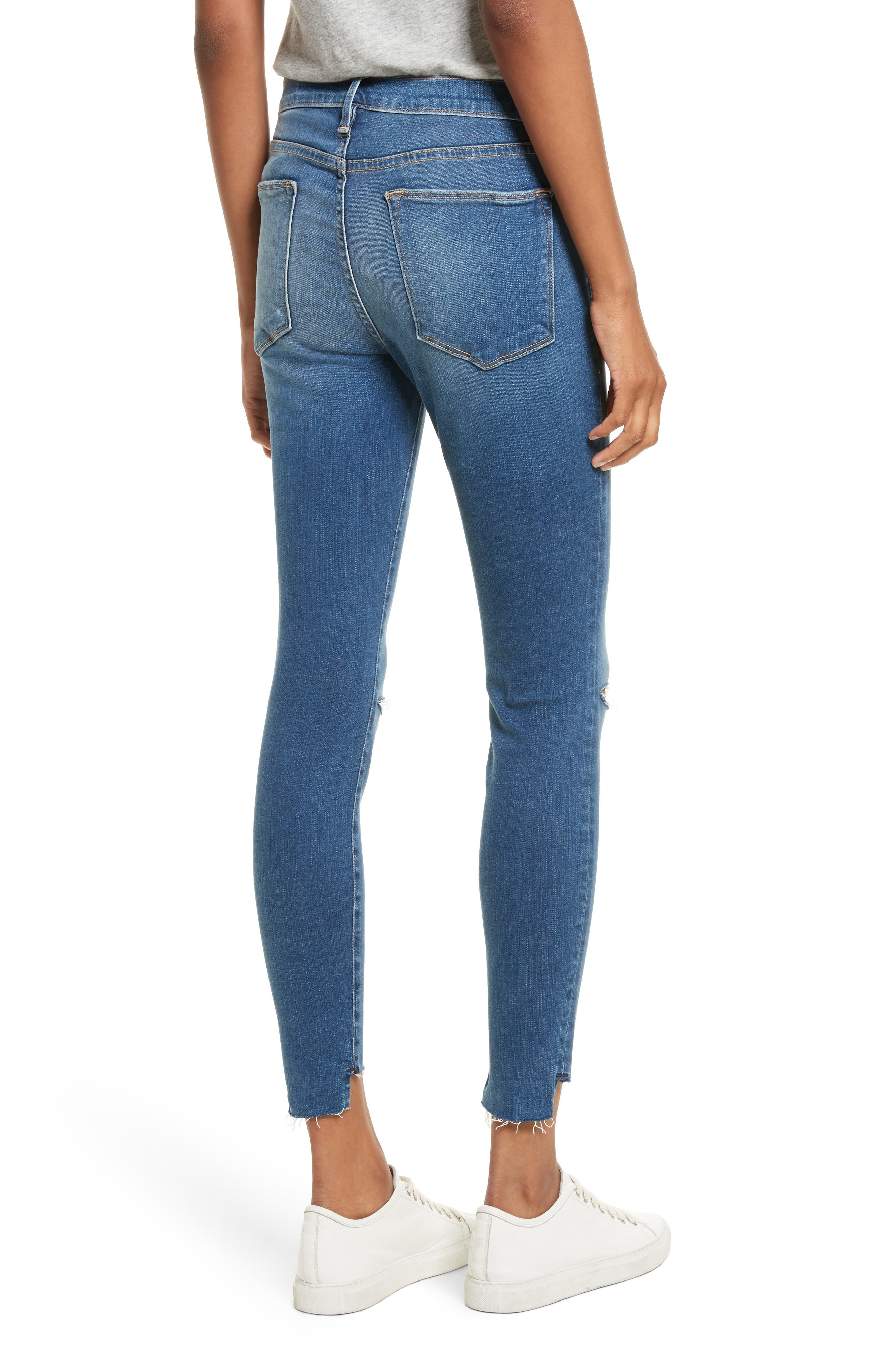 Le High High Waist Ankle Skinny Jeans,                             Alternate thumbnail 2, color,                             420