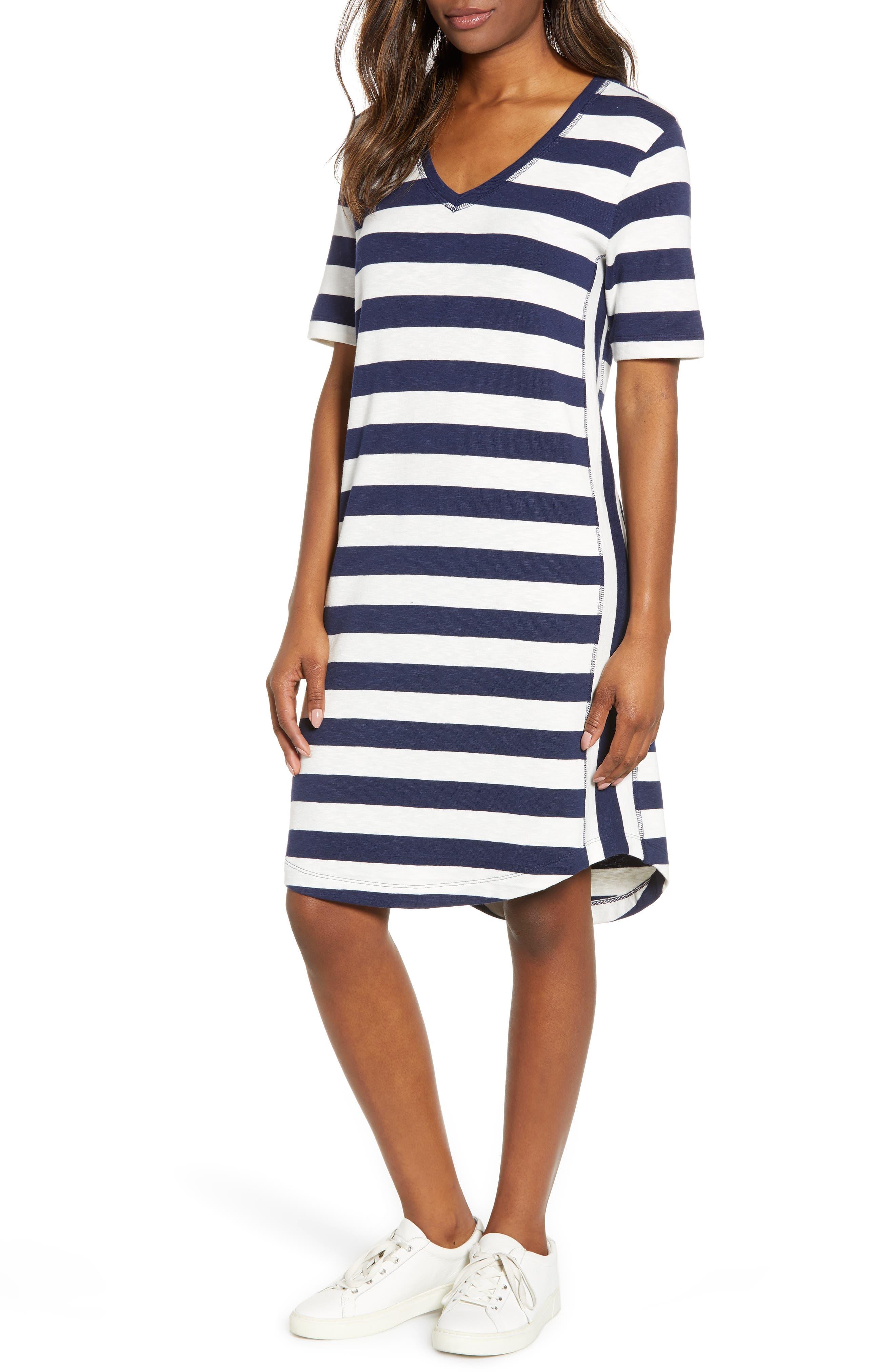 Petite Caslon Slub Knit Dress, Blue