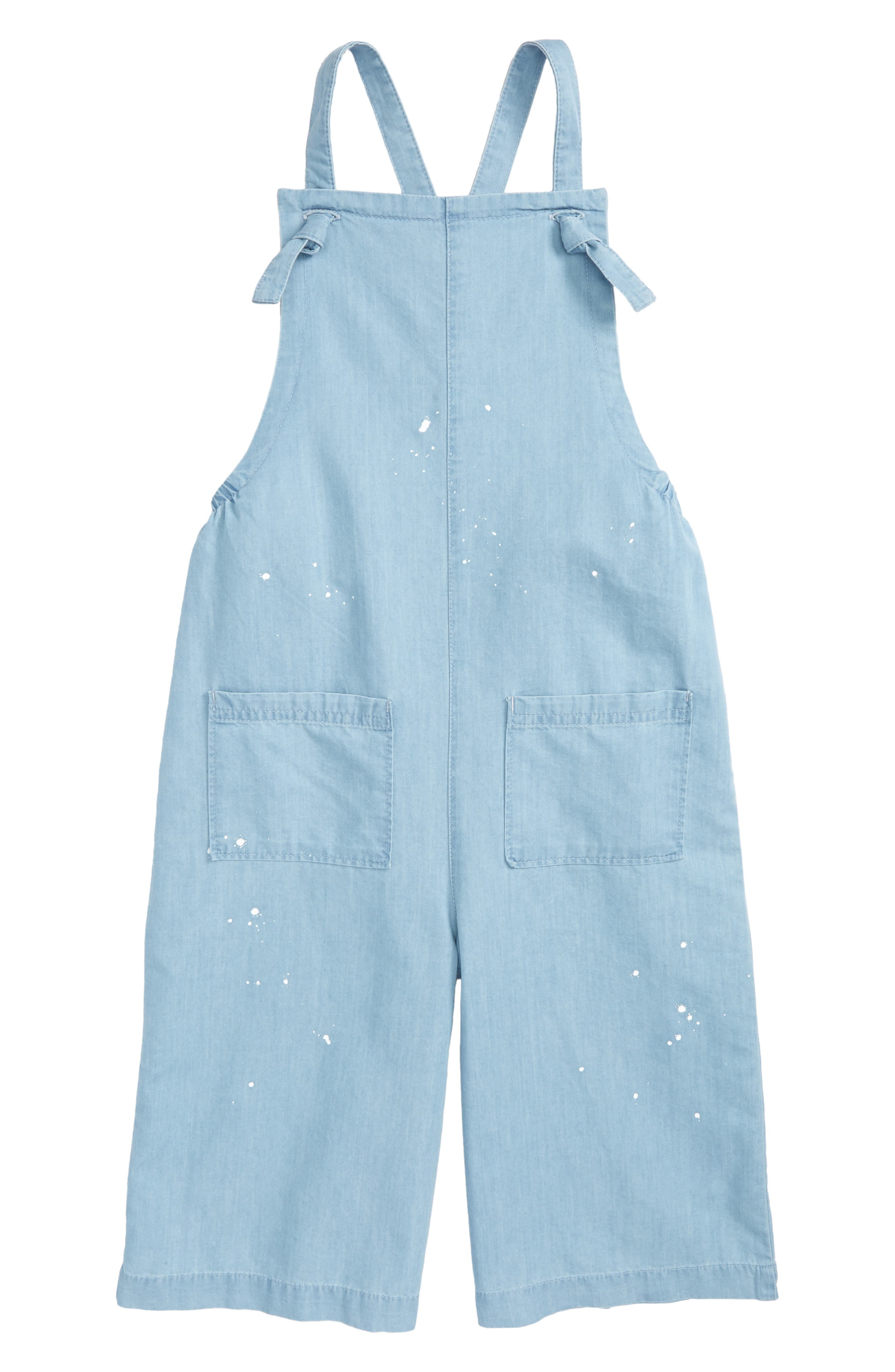 Crop Chambray Romper,                             Main thumbnail 1, color,                             450