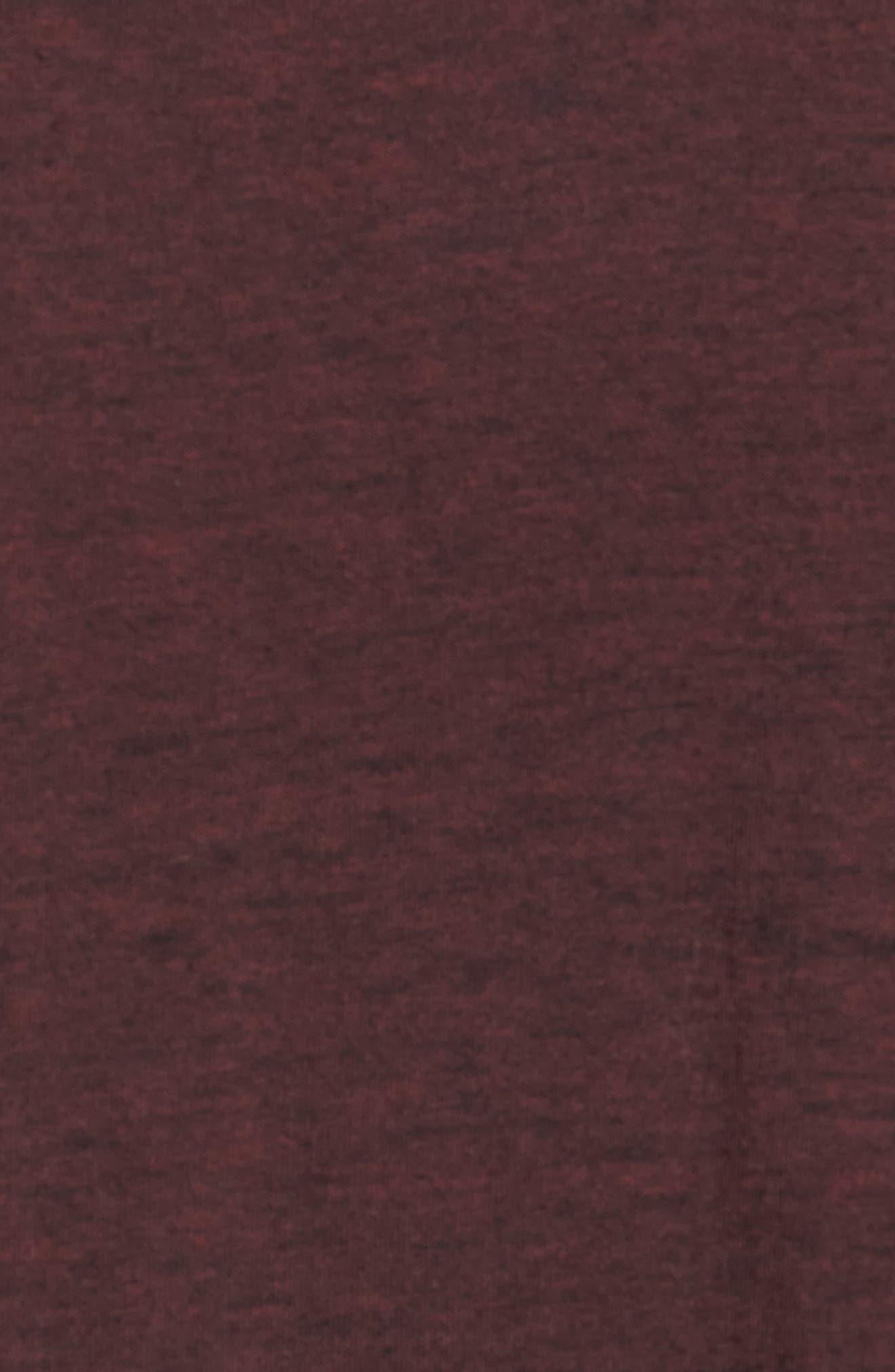 Burnout Long Sleeve T-Shirt,                             Alternate thumbnail 5, color,                             BORDEAUX