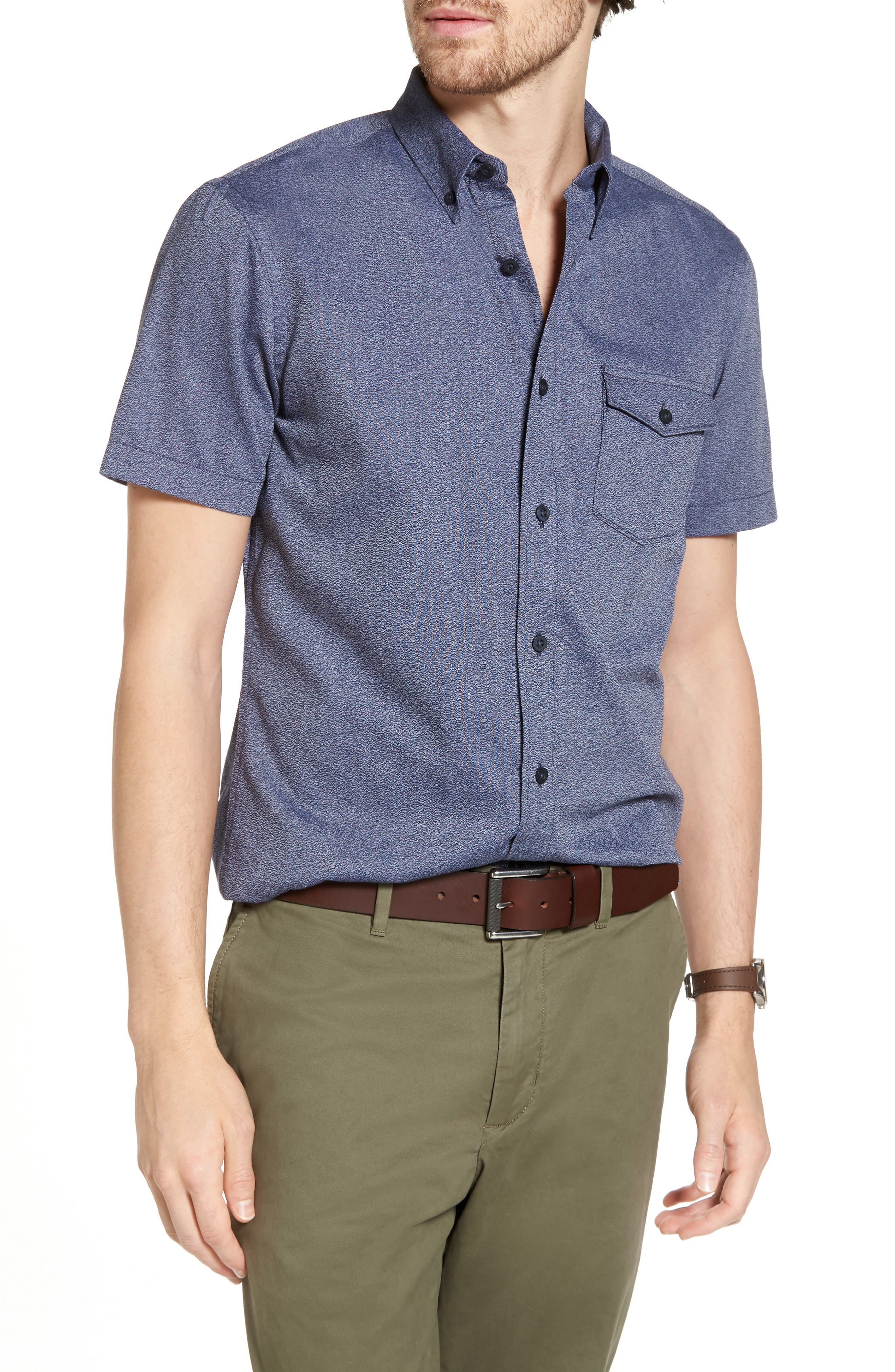 Ivy Jaspe Trim Fit Sport Shirt,                             Main thumbnail 1, color,                             410