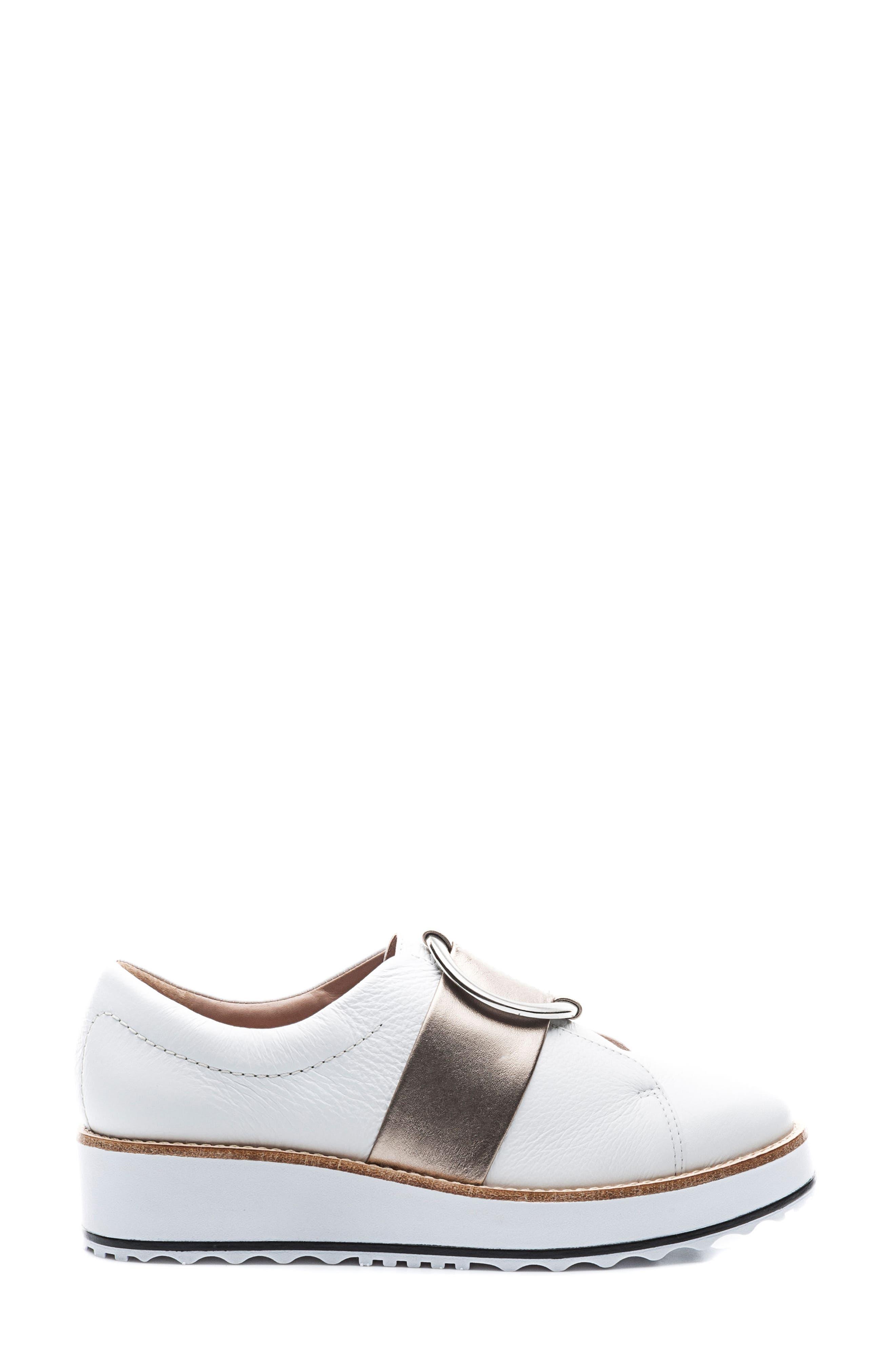Susan Wedge Sneaker,                             Alternate thumbnail 3, color,                             100