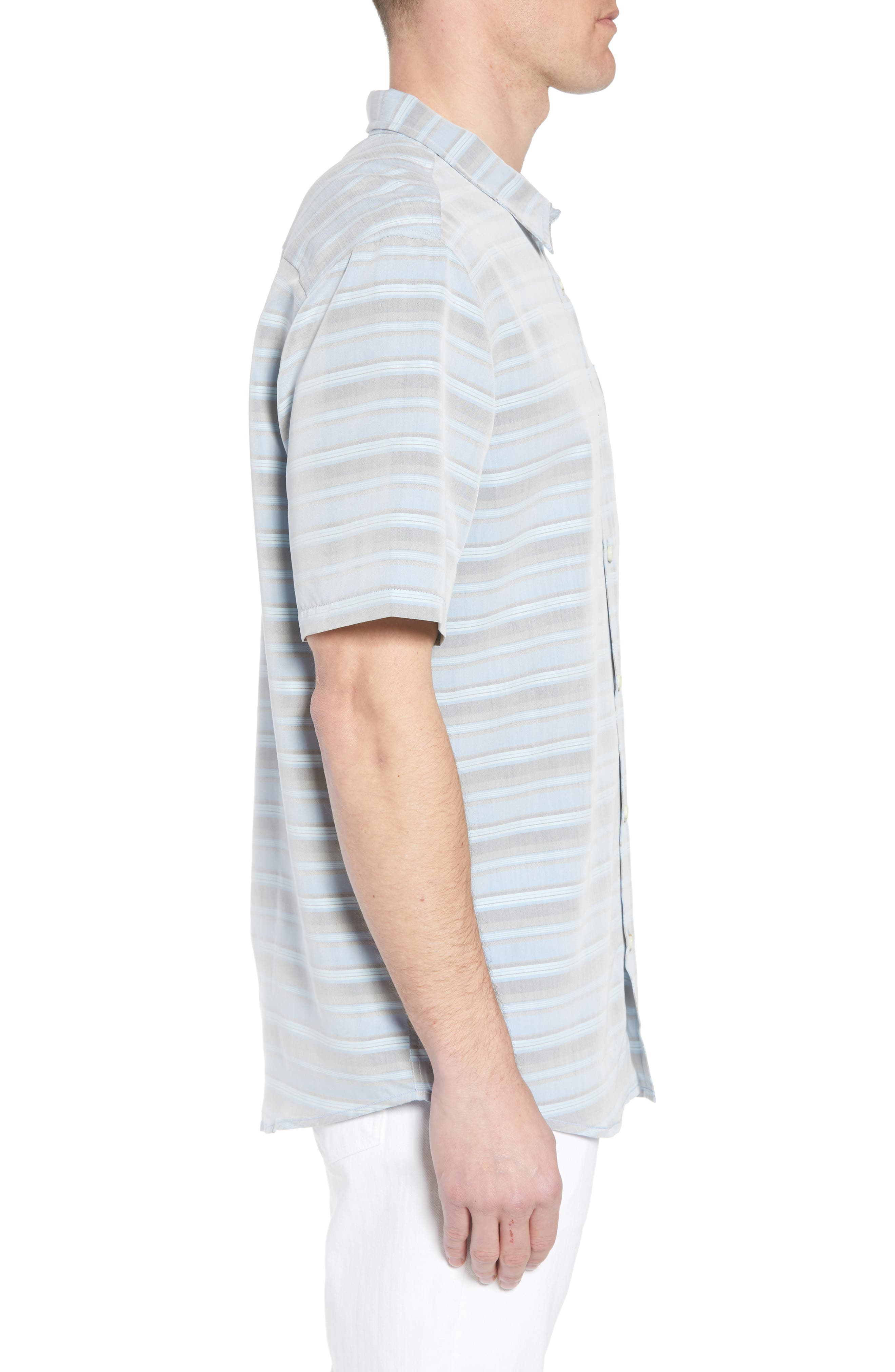 Tubes Regular Fit Short Sleeve Sport Shirt,                             Alternate thumbnail 3, color,                             COBALT