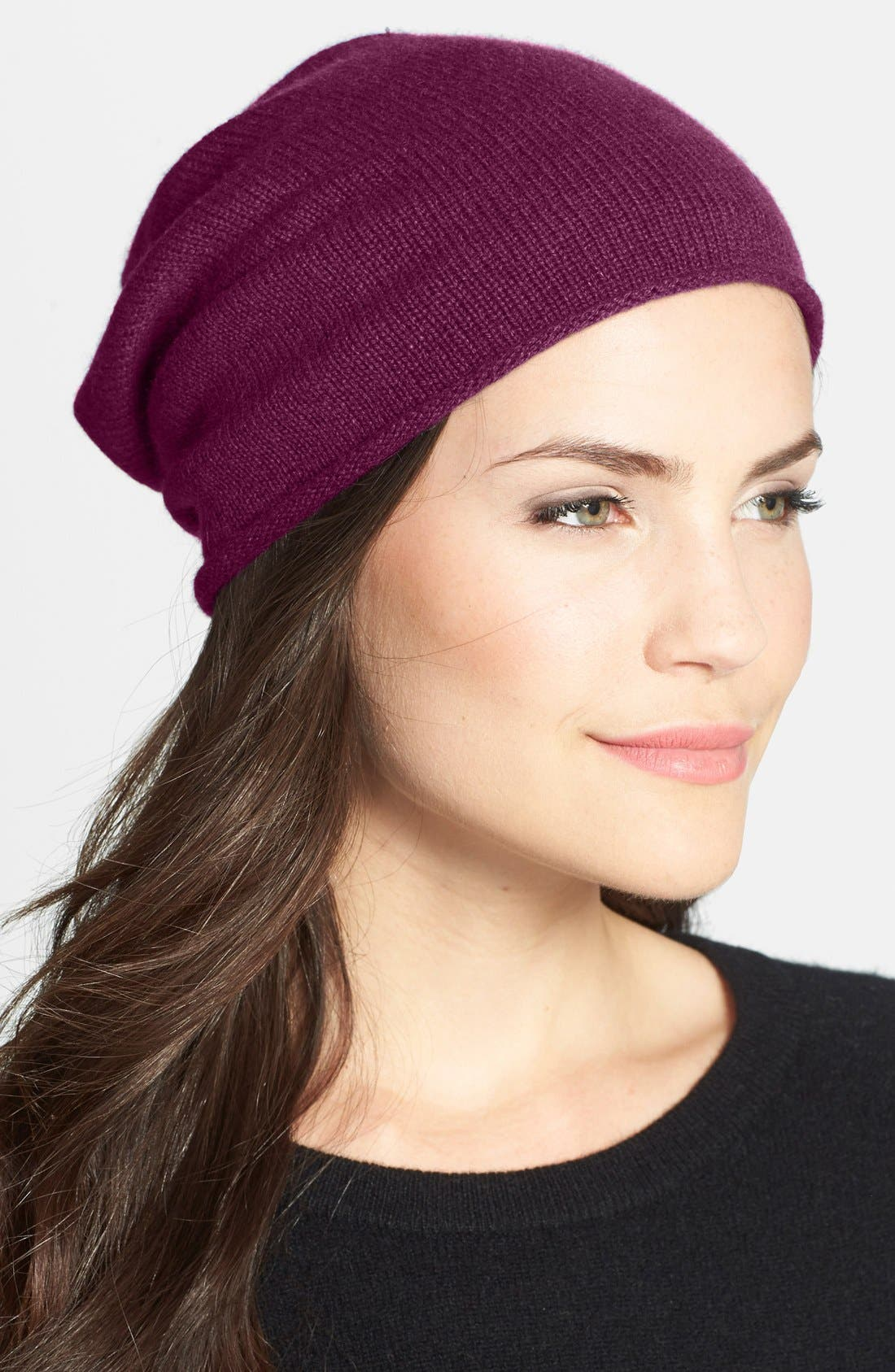 Slouchy Cashmere Beanie,                             Main thumbnail 16, color,