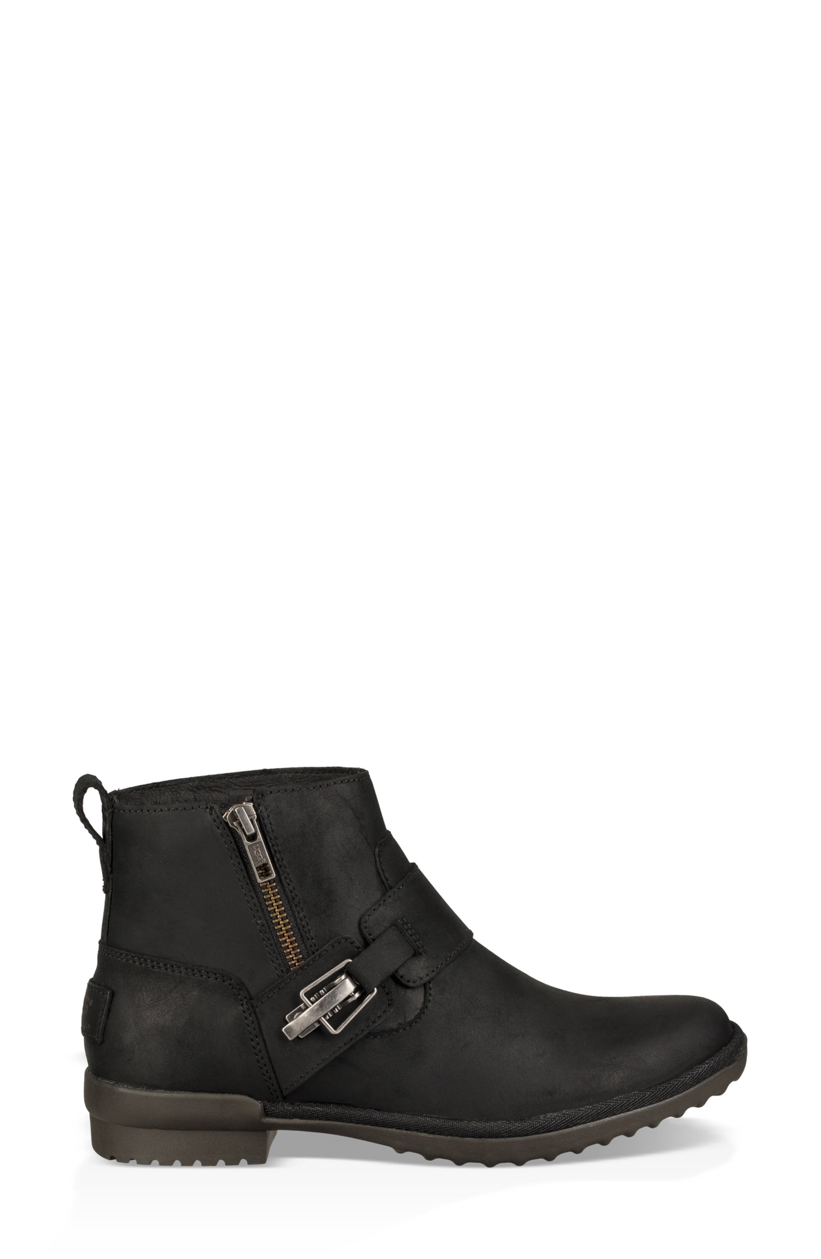 Cheyne Bootie,                             Alternate thumbnail 3, color,                             BLACK LEATHER