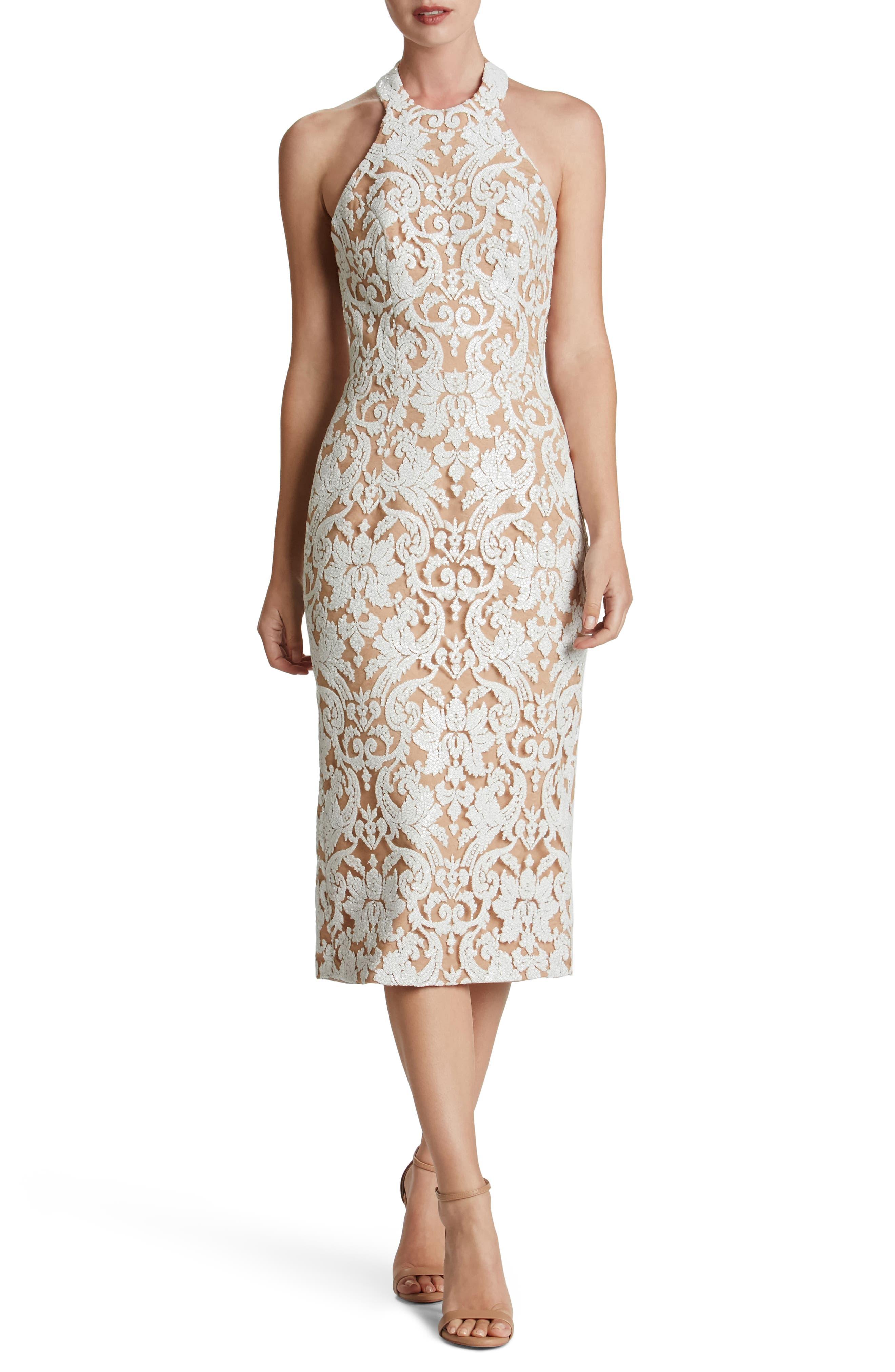 Cassie Sequin Midi Dress,                             Main thumbnail 3, color,