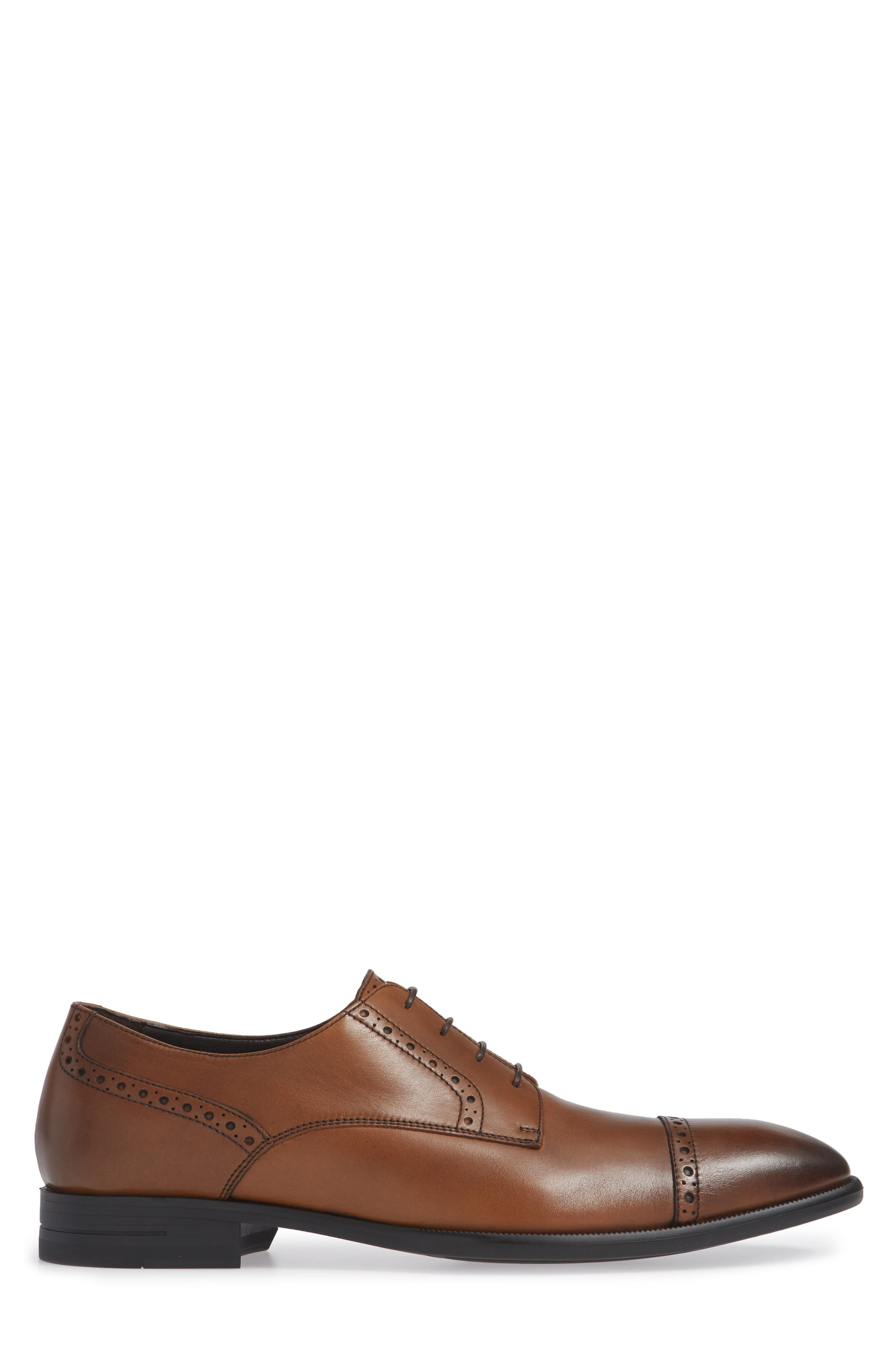 Cap Toe Derby,                             Alternate thumbnail 3, color,                             VICUNA BROWN