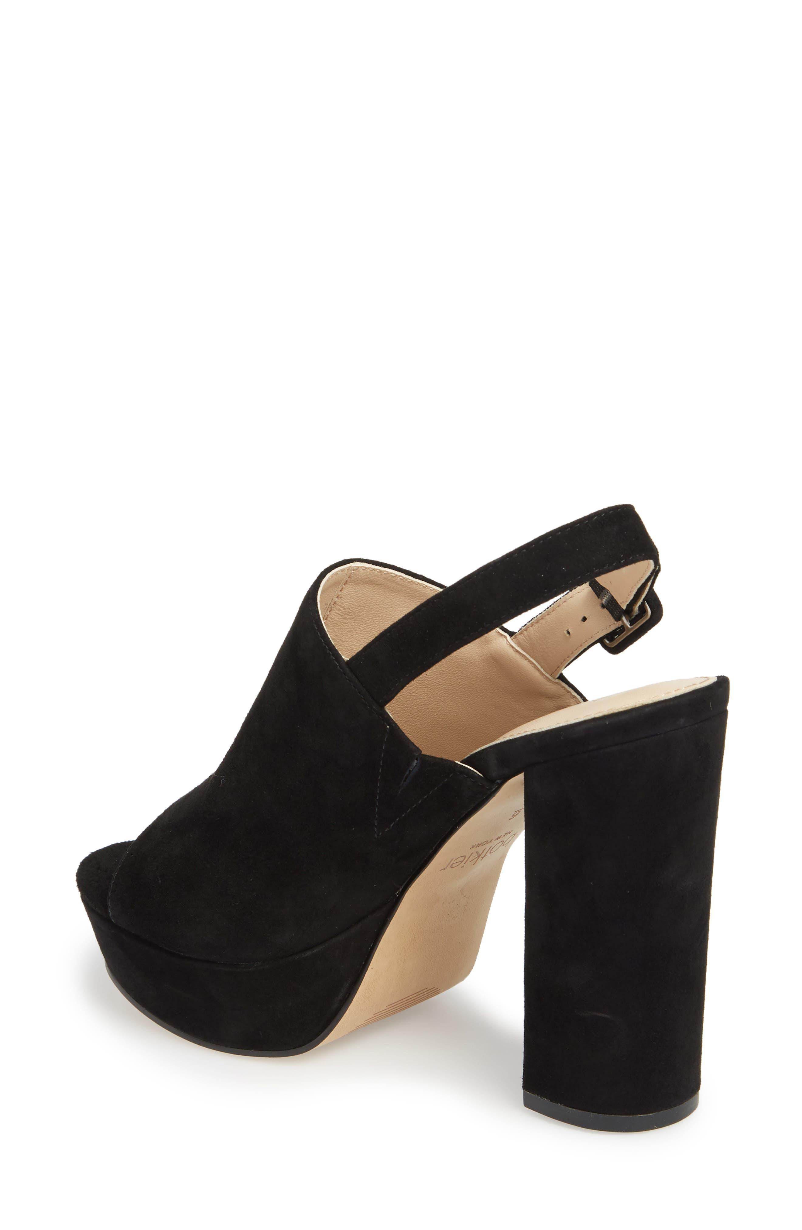 Jolene Platform Sandal,                             Alternate thumbnail 2, color,                             BLACK SUEDE