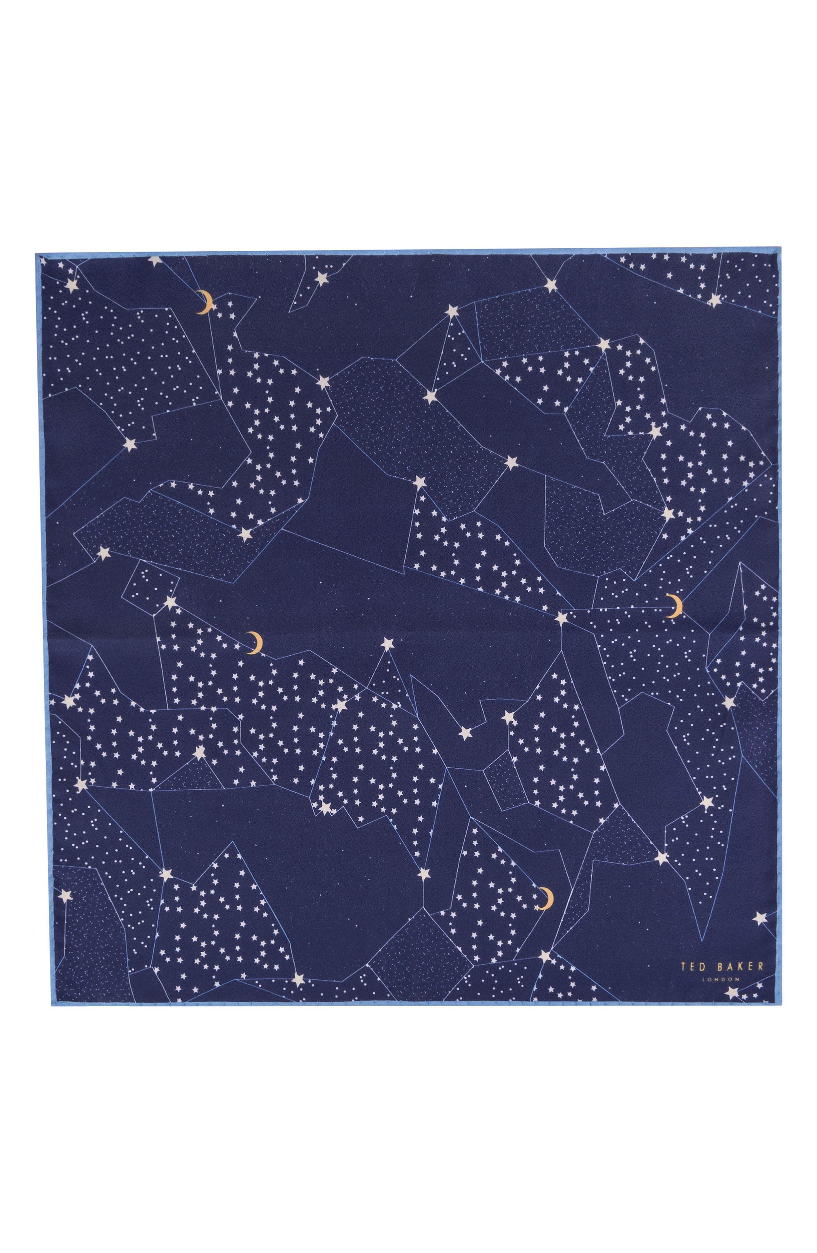 Orion Silk Pocket Square,                             Alternate thumbnail 4, color,