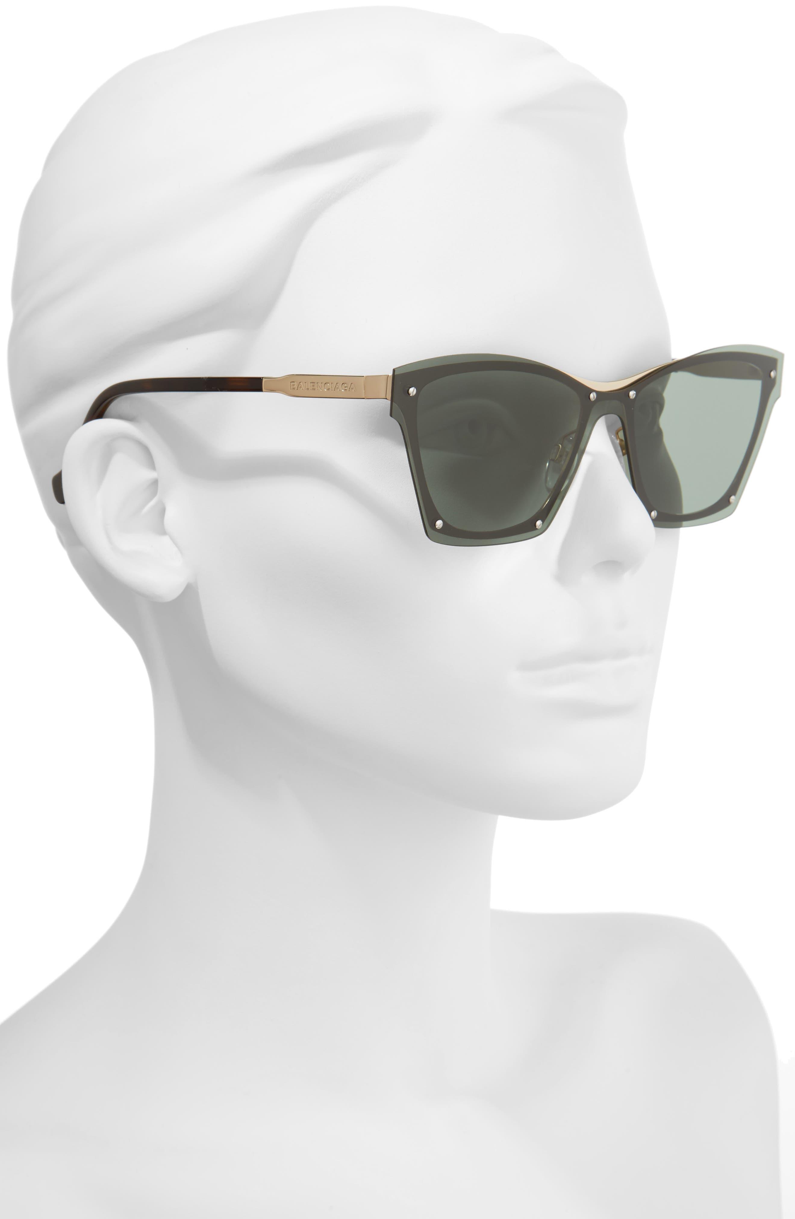 55mm Frameless Sunglasses,                             Alternate thumbnail 6, color,