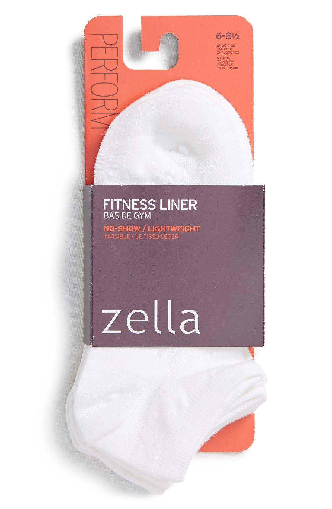 'Fitness' Liner Socks,                             Alternate thumbnail 3, color,                             100