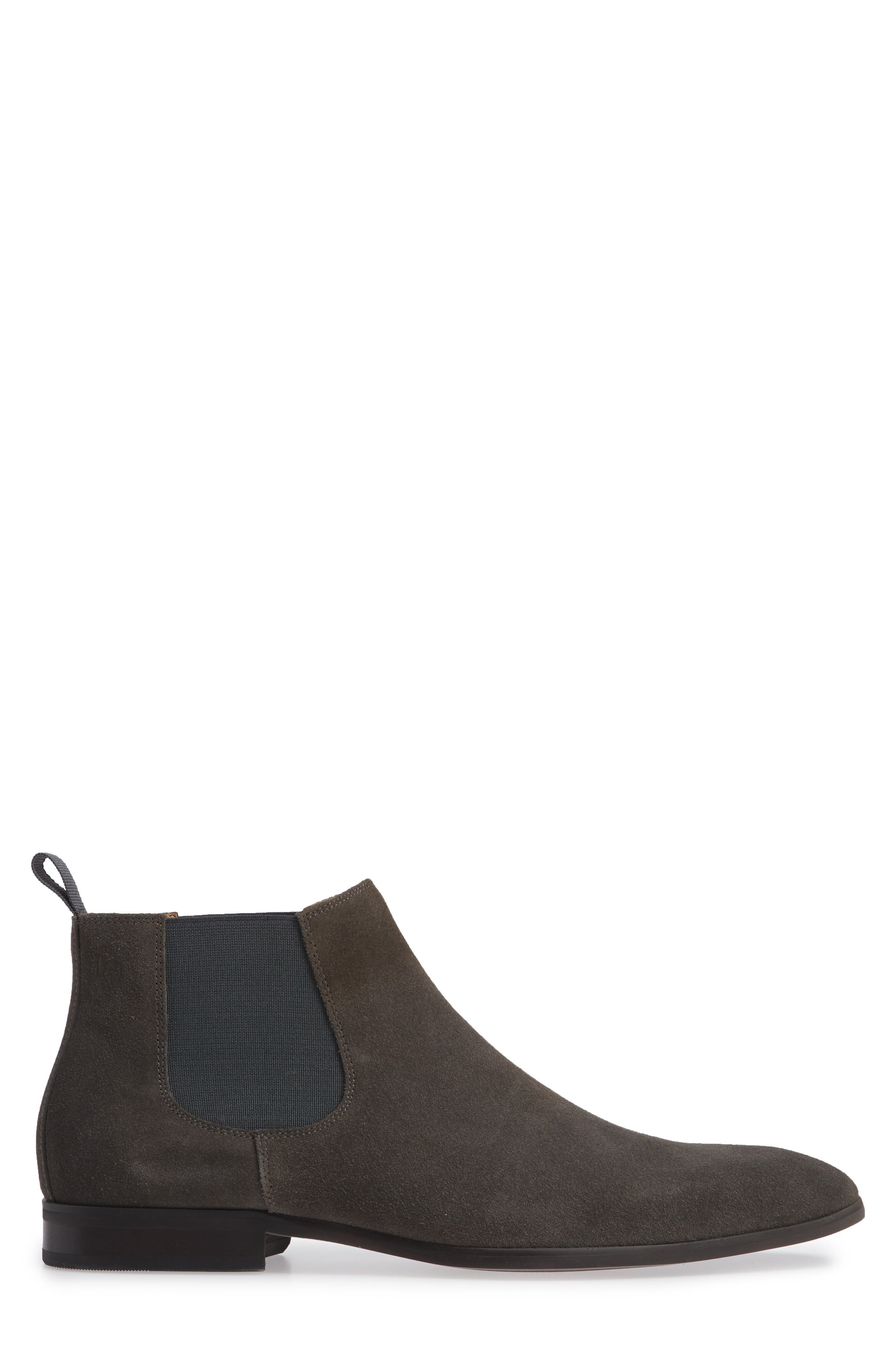 Edward Chelsea Boot,                             Alternate thumbnail 3, color,                             CHARCOAL SUEDE