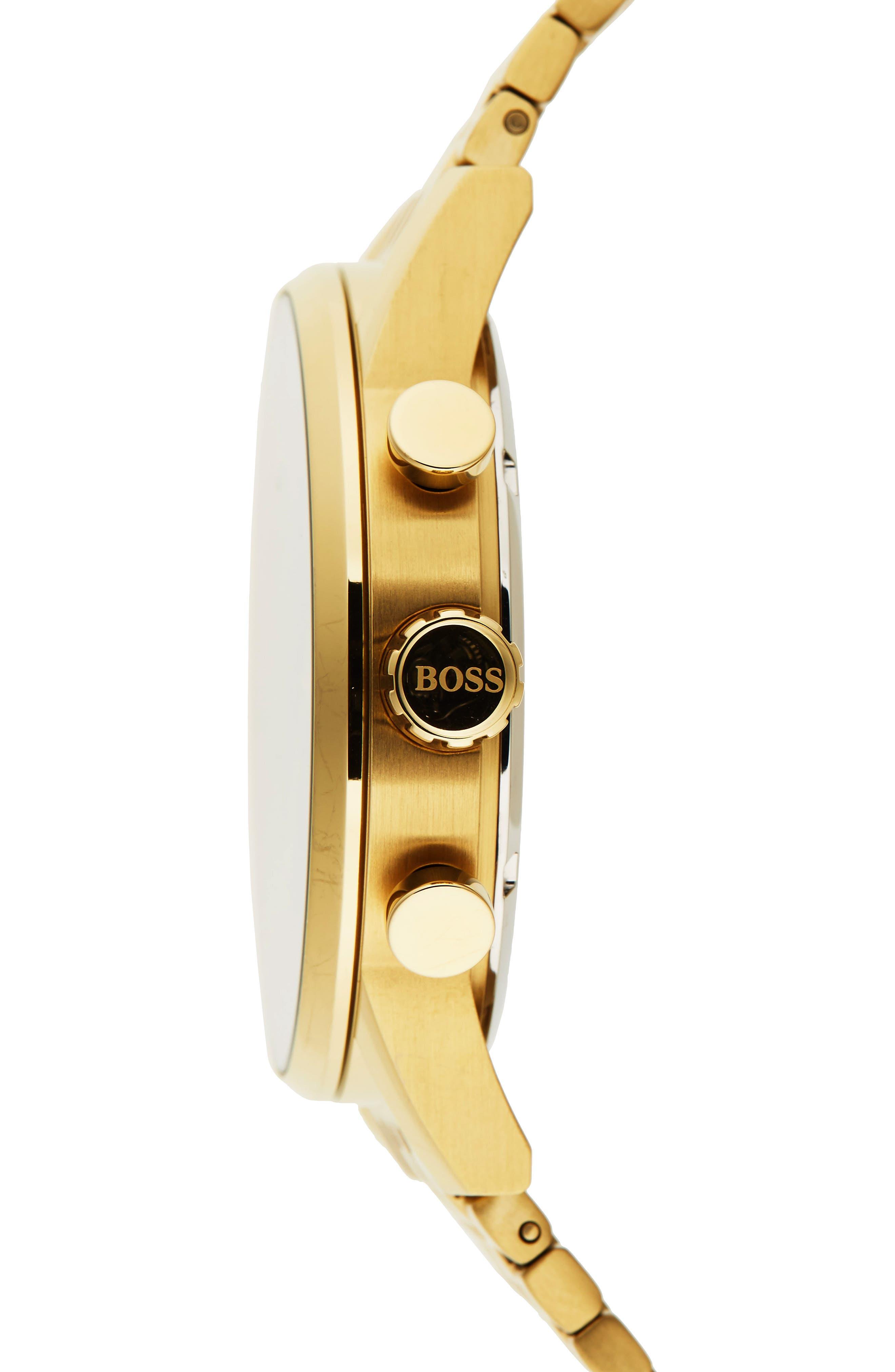 Navigator Chronograph Bracelet Watch, 44mm,                             Alternate thumbnail 3, color,                             001