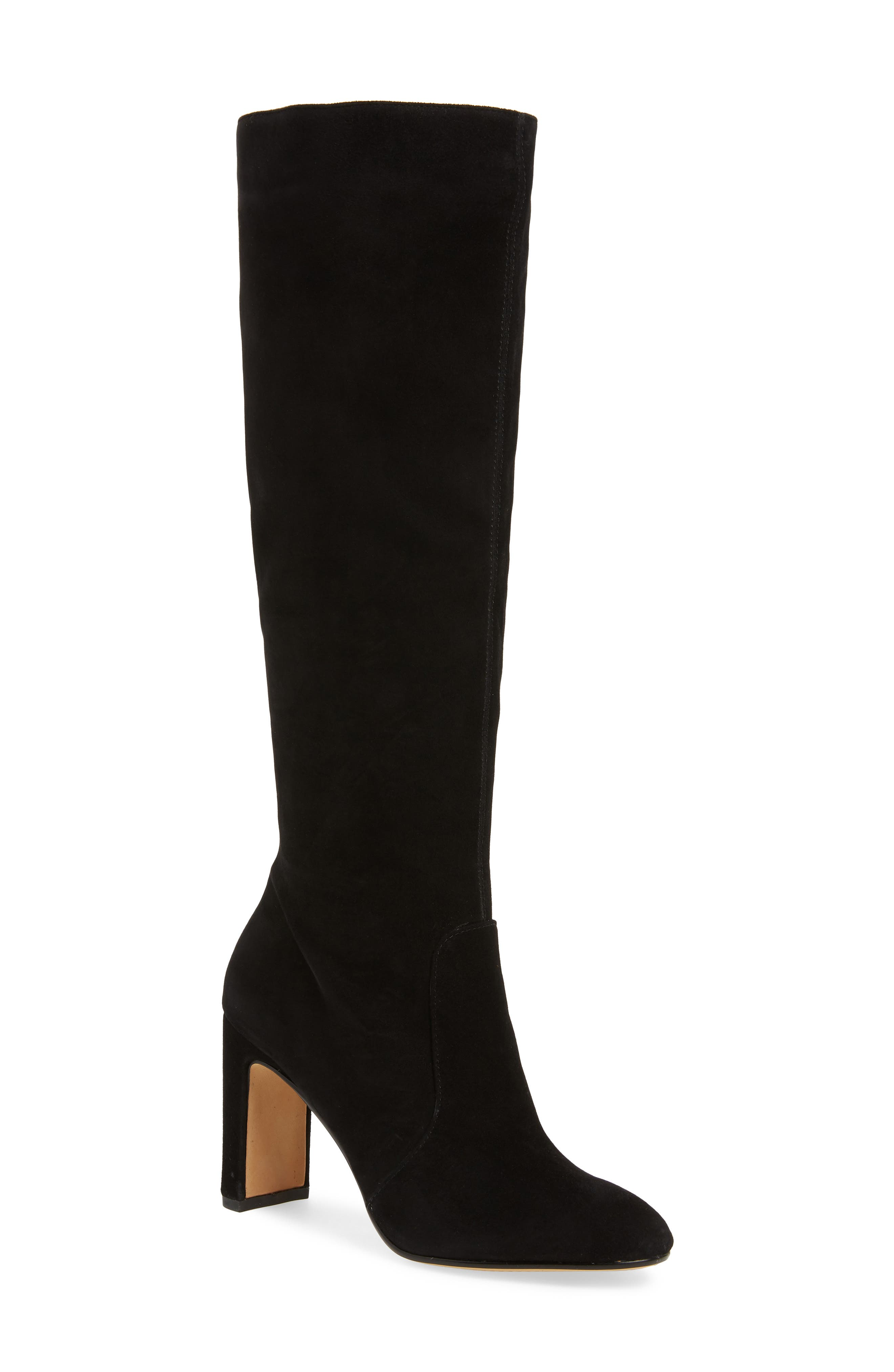 DOLCE VITA Women'S Coop Slouchy Suede Tall Boots in Onyx
