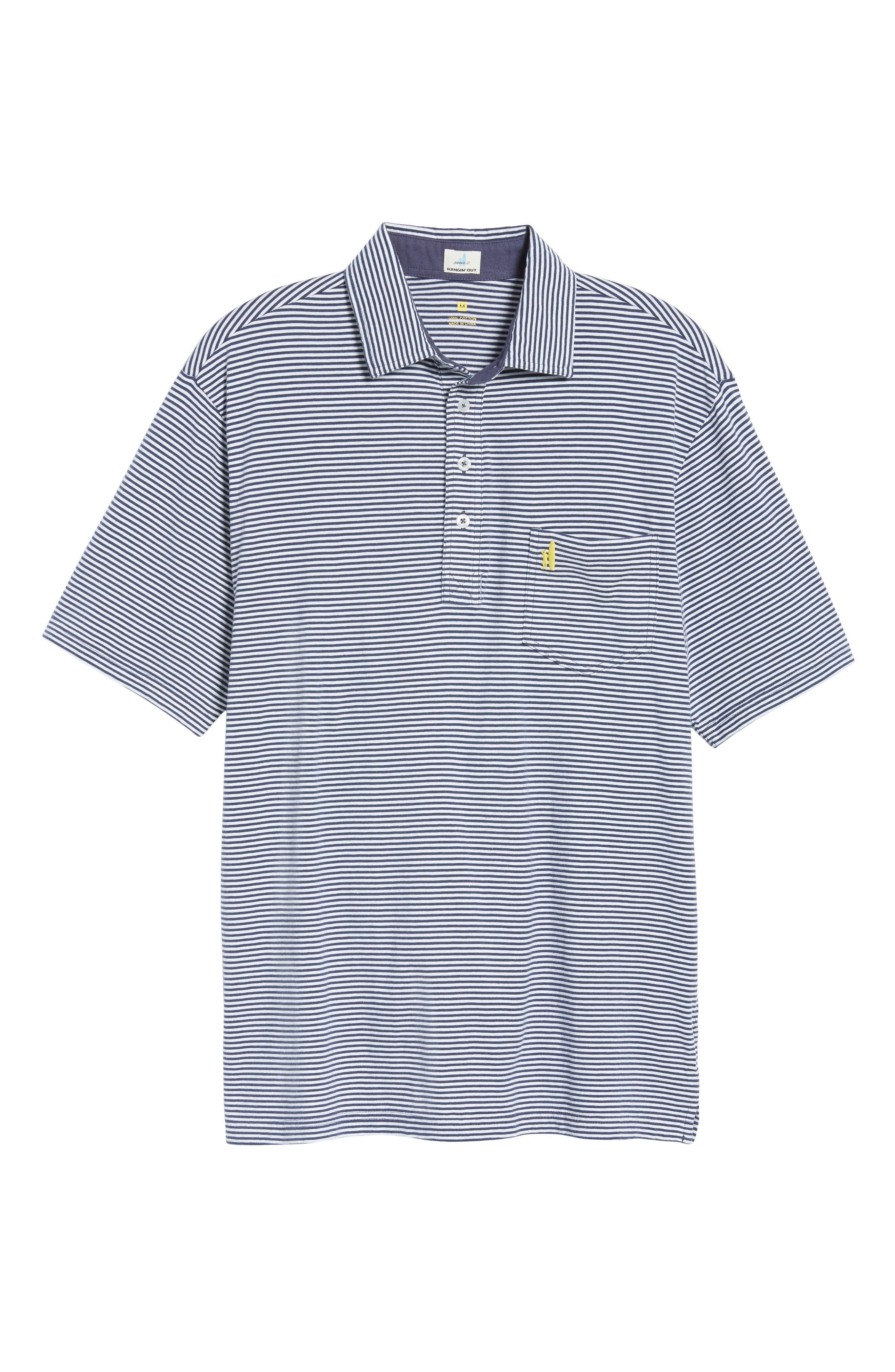 Jack Stripe Jersey Polo,                             Alternate thumbnail 6, color,                             PACIFIC