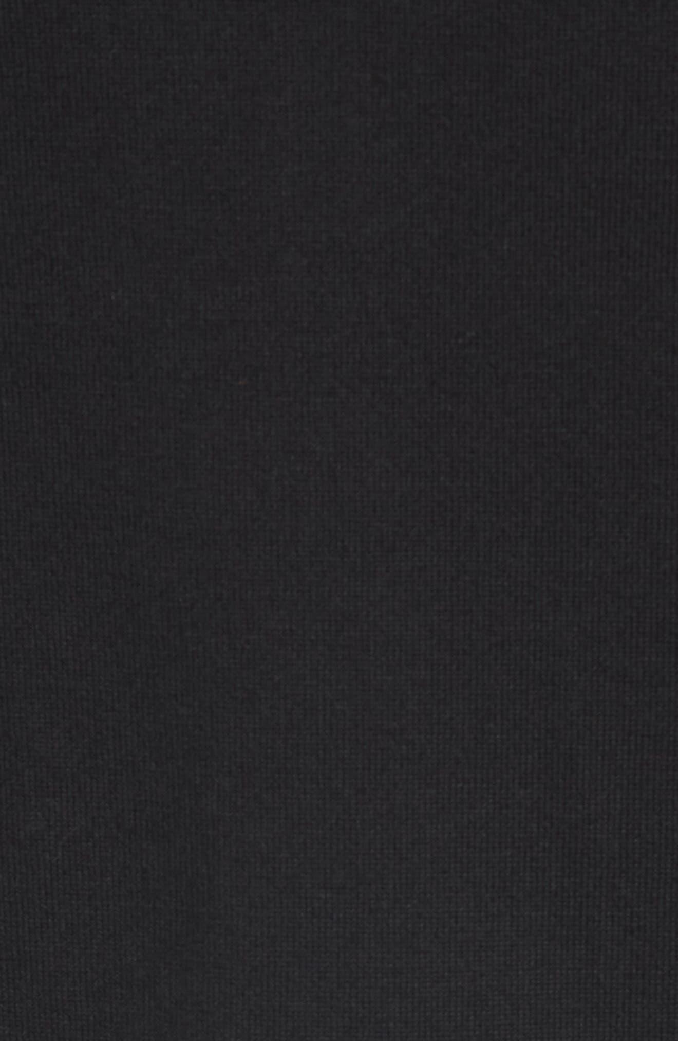 Chicago Bears - Lakemont Regular Fit Quarter Zip Sweater,                             Alternate thumbnail 5, color,                             BLACK