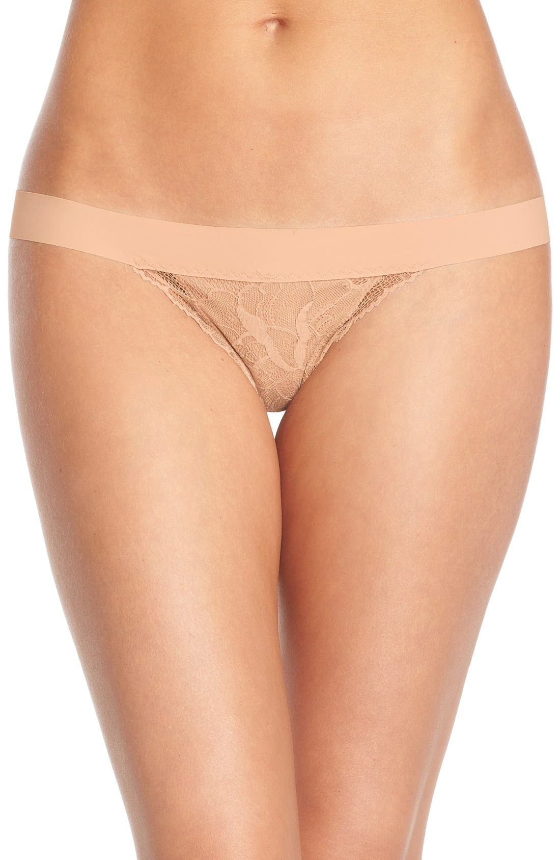 'Double Take' Lace G-String Thong,                             Main thumbnail 3, color,