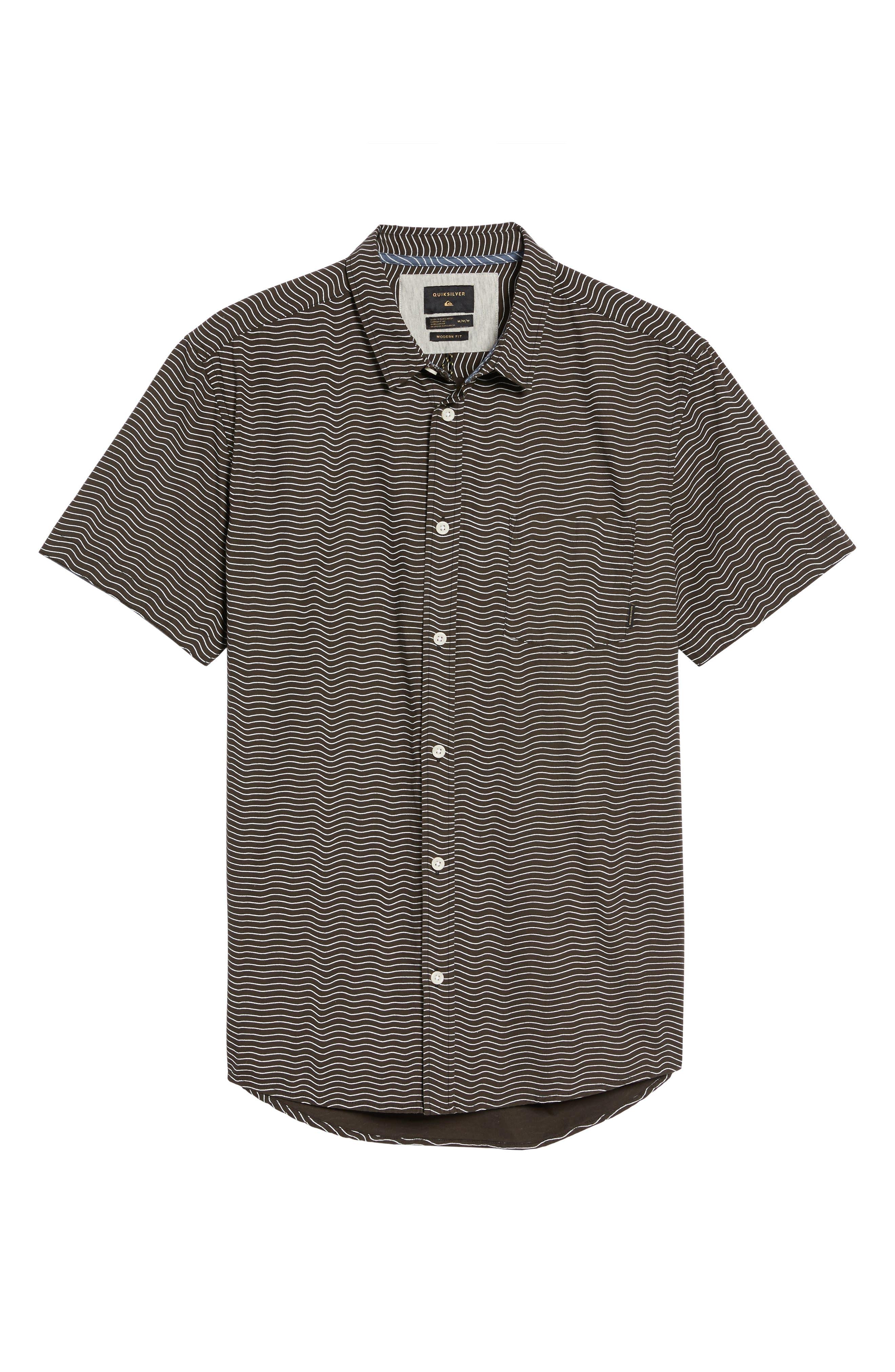 Heat Wave Stripe Shirt,                             Alternate thumbnail 6, color,                             002