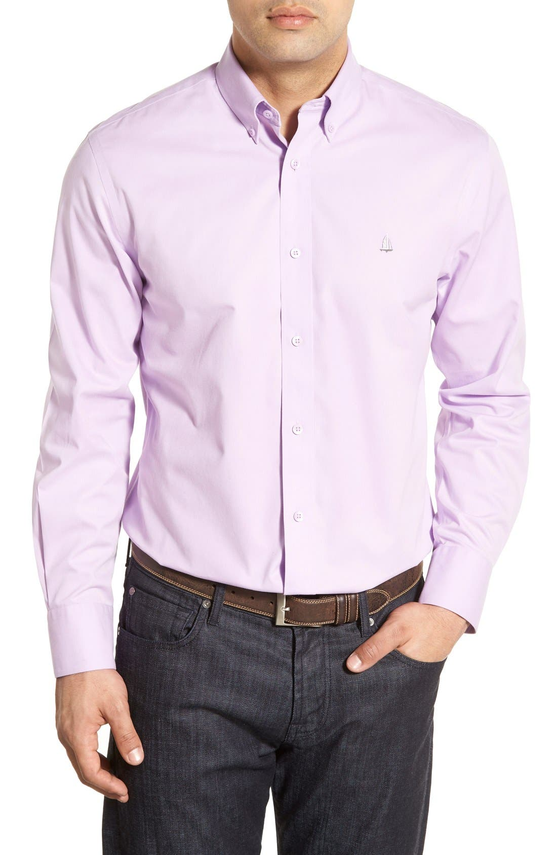 Smartcare<sup>™</sup> Traditional Fit Twill Boat Shirt,                             Main thumbnail 33, color,