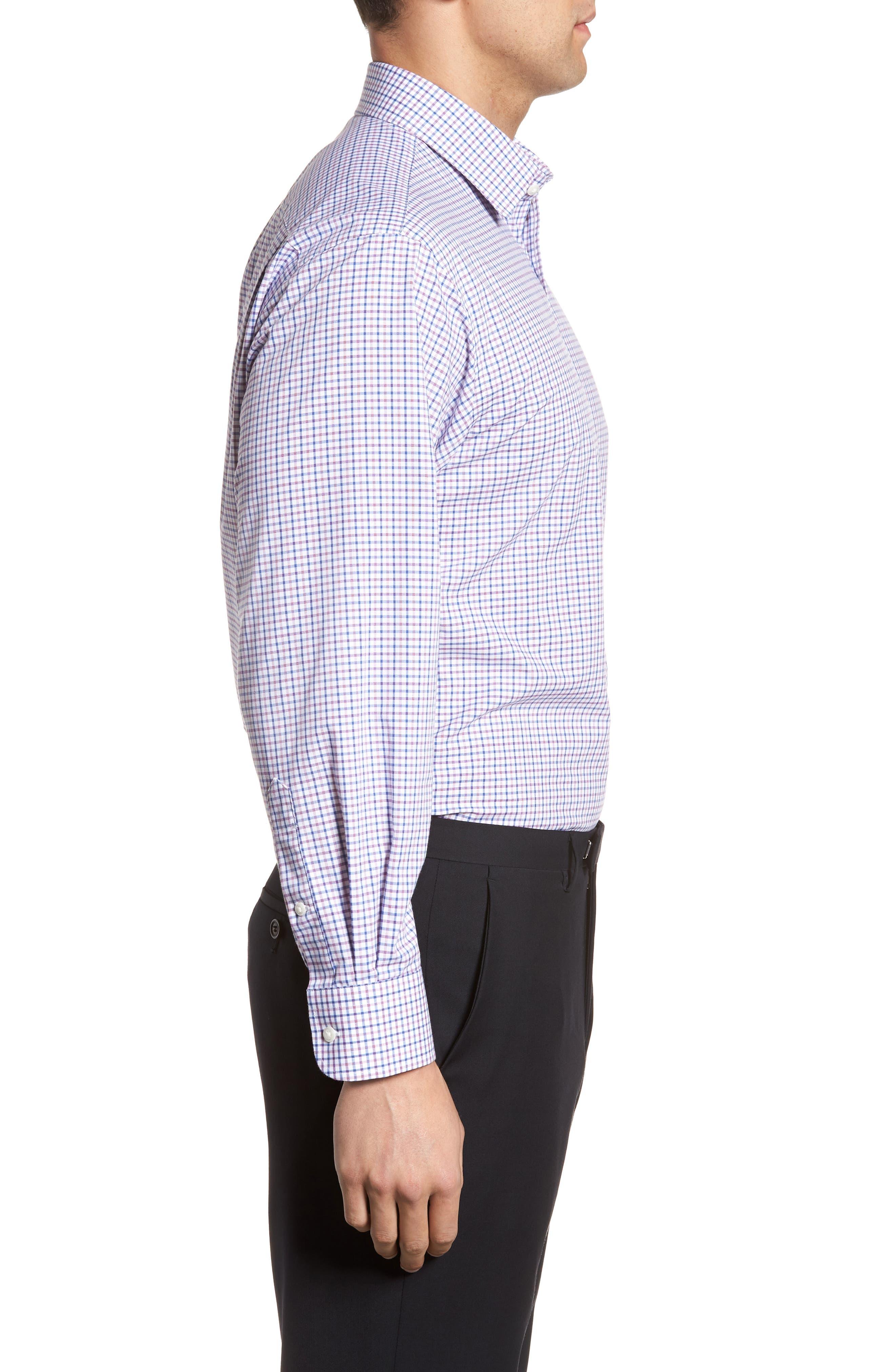 Classic Fit Check Dress Shirt,                             Alternate thumbnail 16, color,