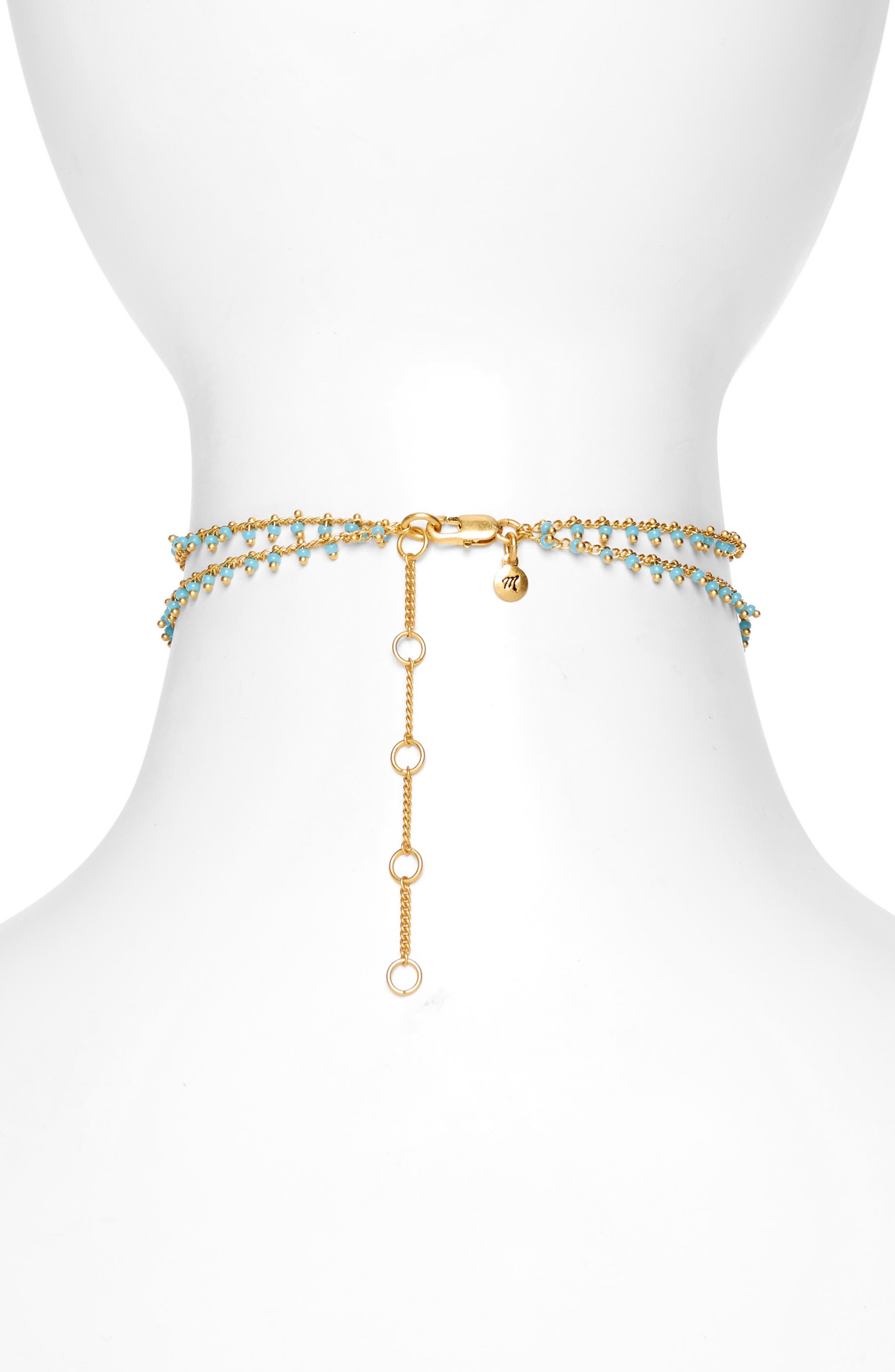 Beadlink Choker Necklace,                             Alternate thumbnail 4, color,