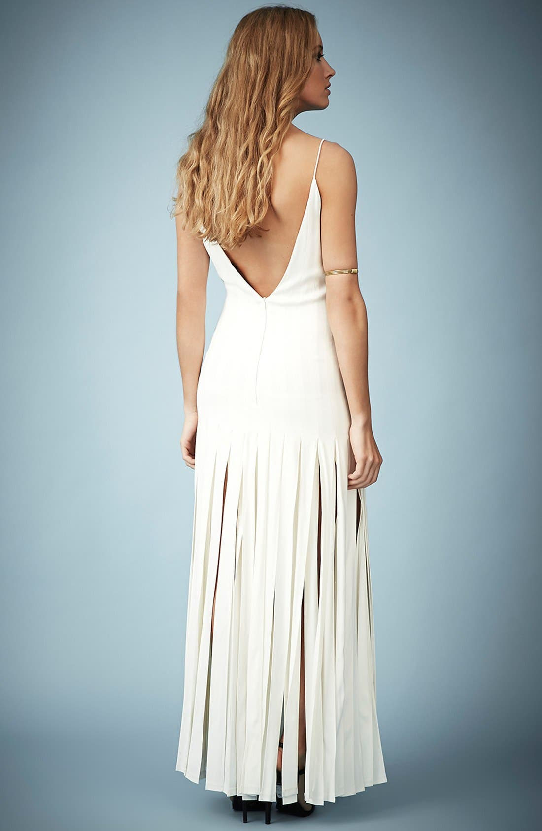Kate Moss for Topshop Splice Skirt Maxi Dress,                             Alternate thumbnail 4, color,