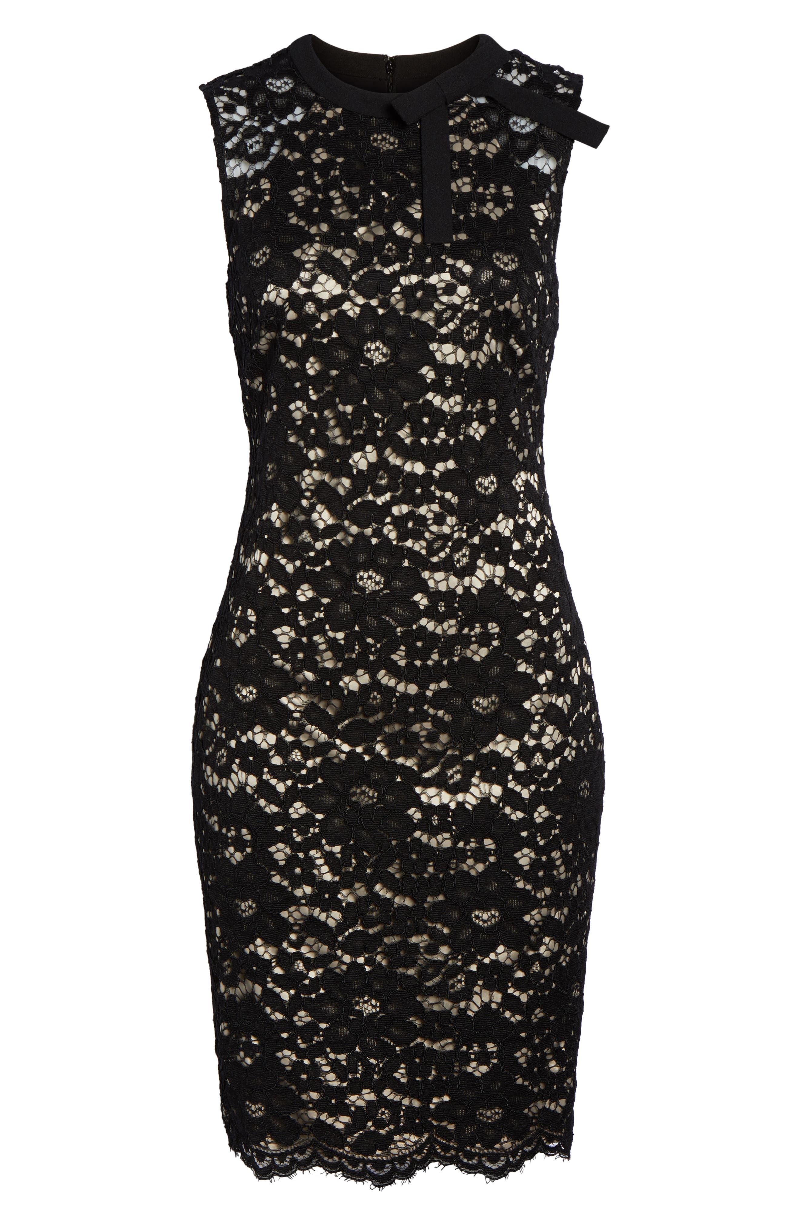Lace Sheath Dress,                             Alternate thumbnail 6, color,