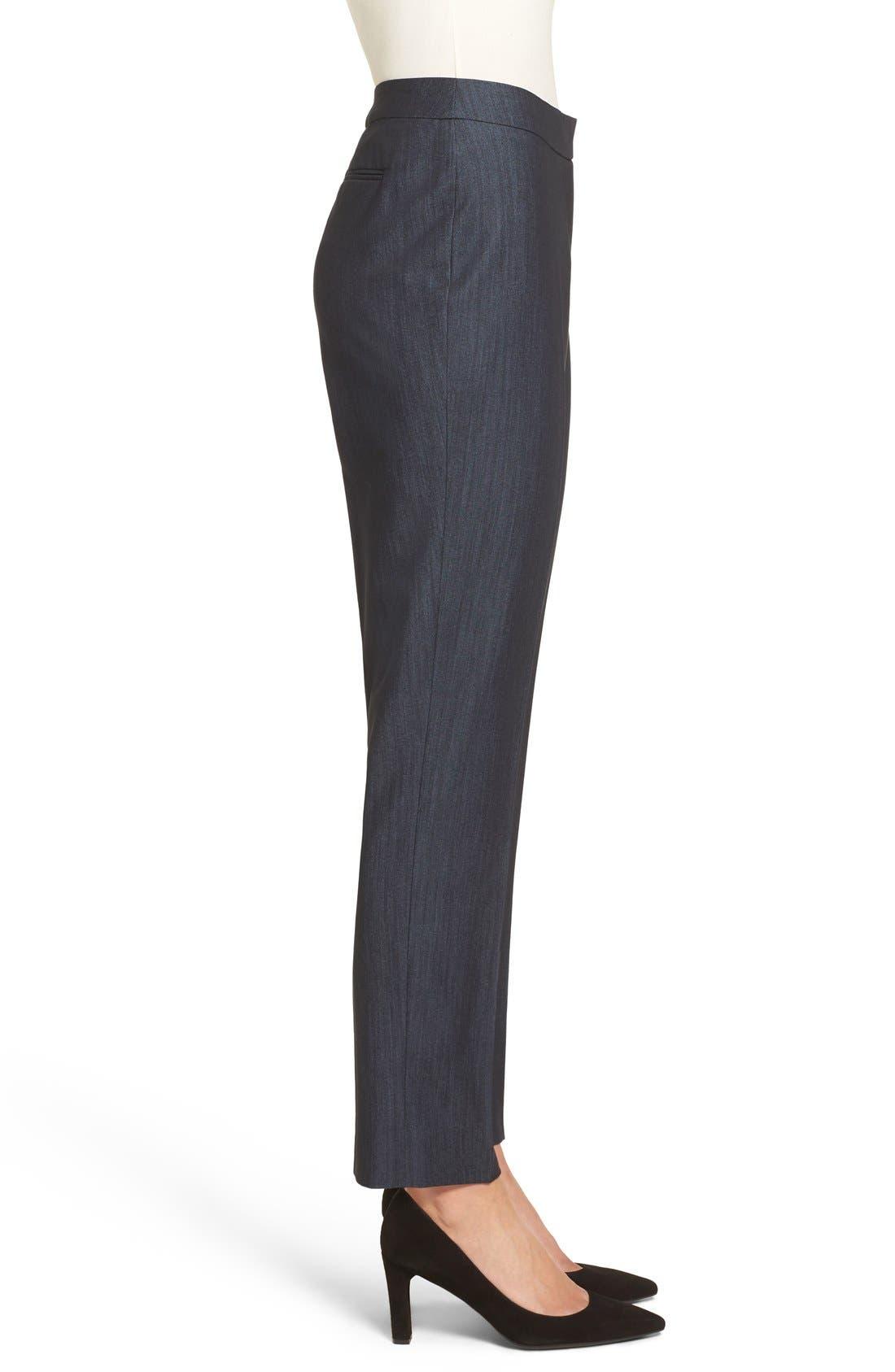 Slim Stretch Denim Suit Pants,                             Alternate thumbnail 5, color,                             INDIGO TWILL