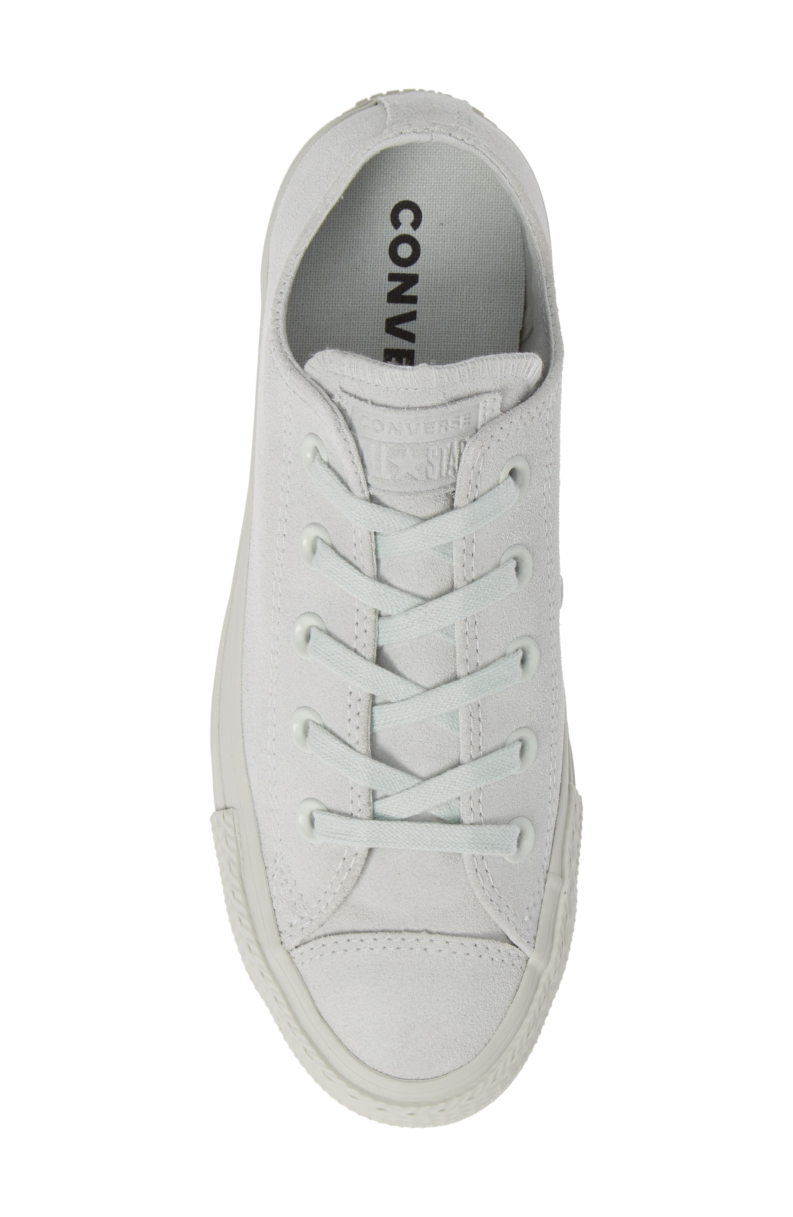 Chuck Taylor<sup>®</sup> All Star<sup>®</sup> Ox Sneaker,                             Alternate thumbnail 5, color,                             LIGHT SILVER SUEDE