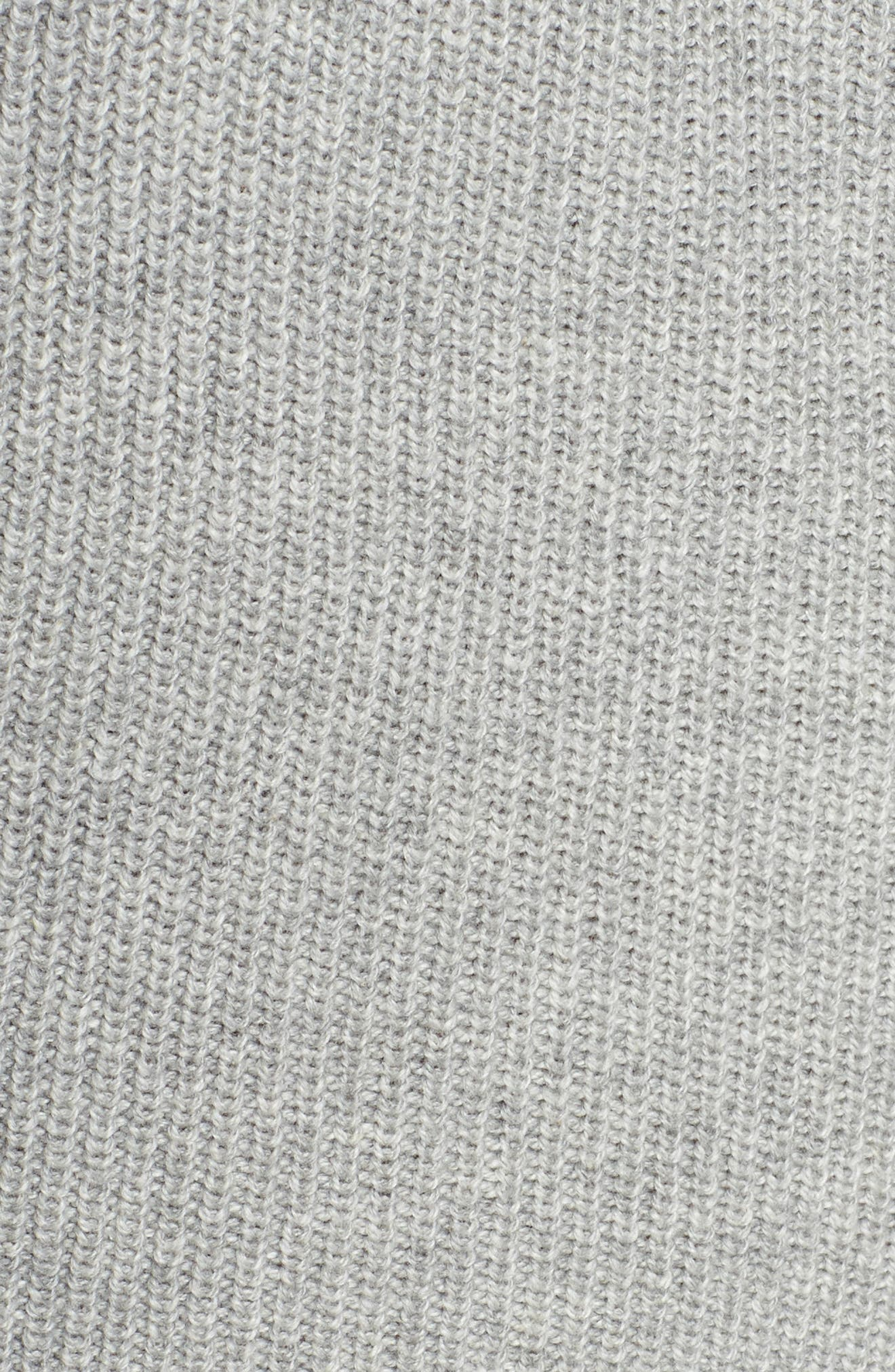 Belted Sweater Dress,                             Alternate thumbnail 6, color,                             GREY MEDIUM HEATHER