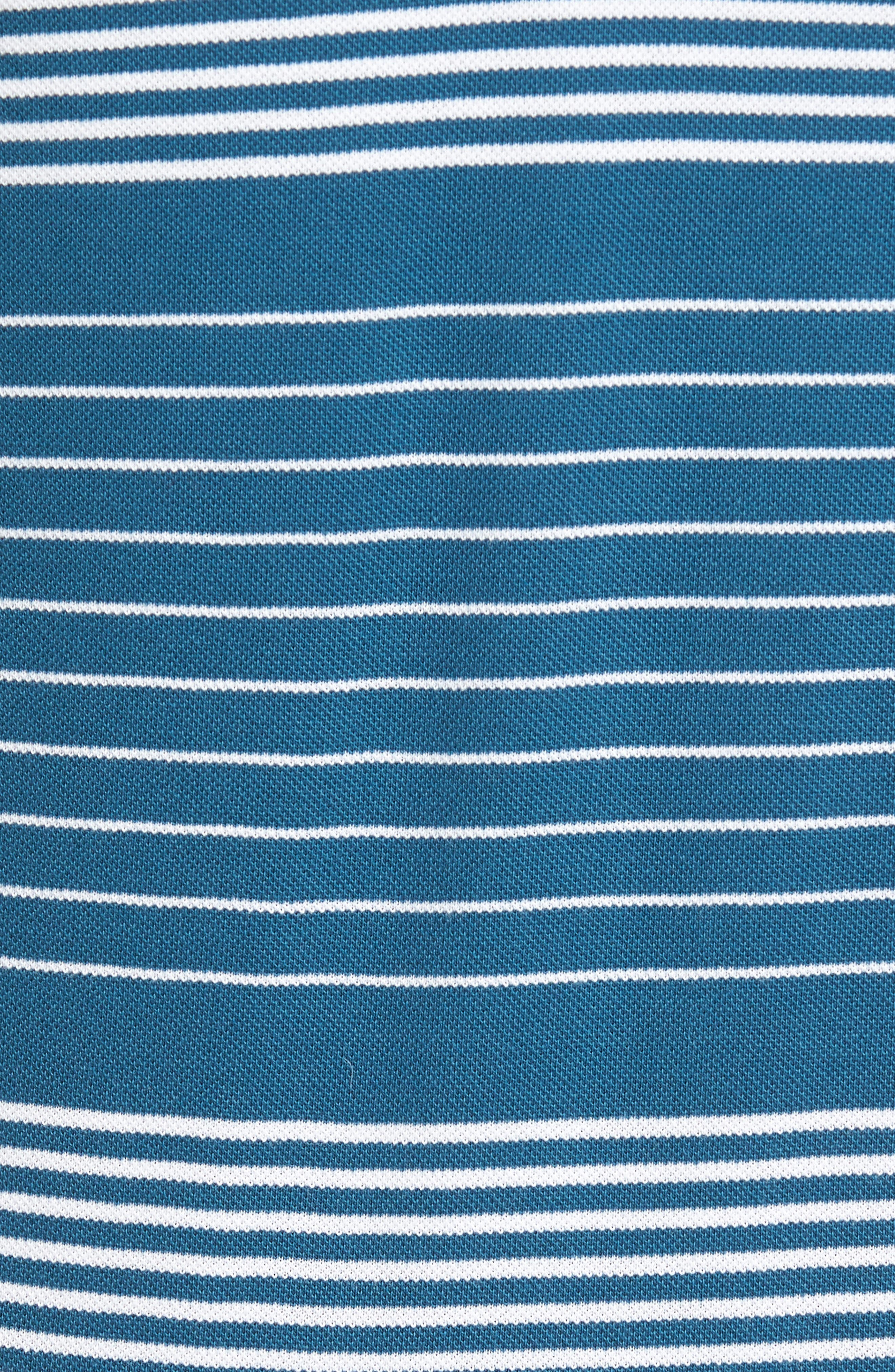 Stripe Piqué Polo,                             Alternate thumbnail 5, color,                             401