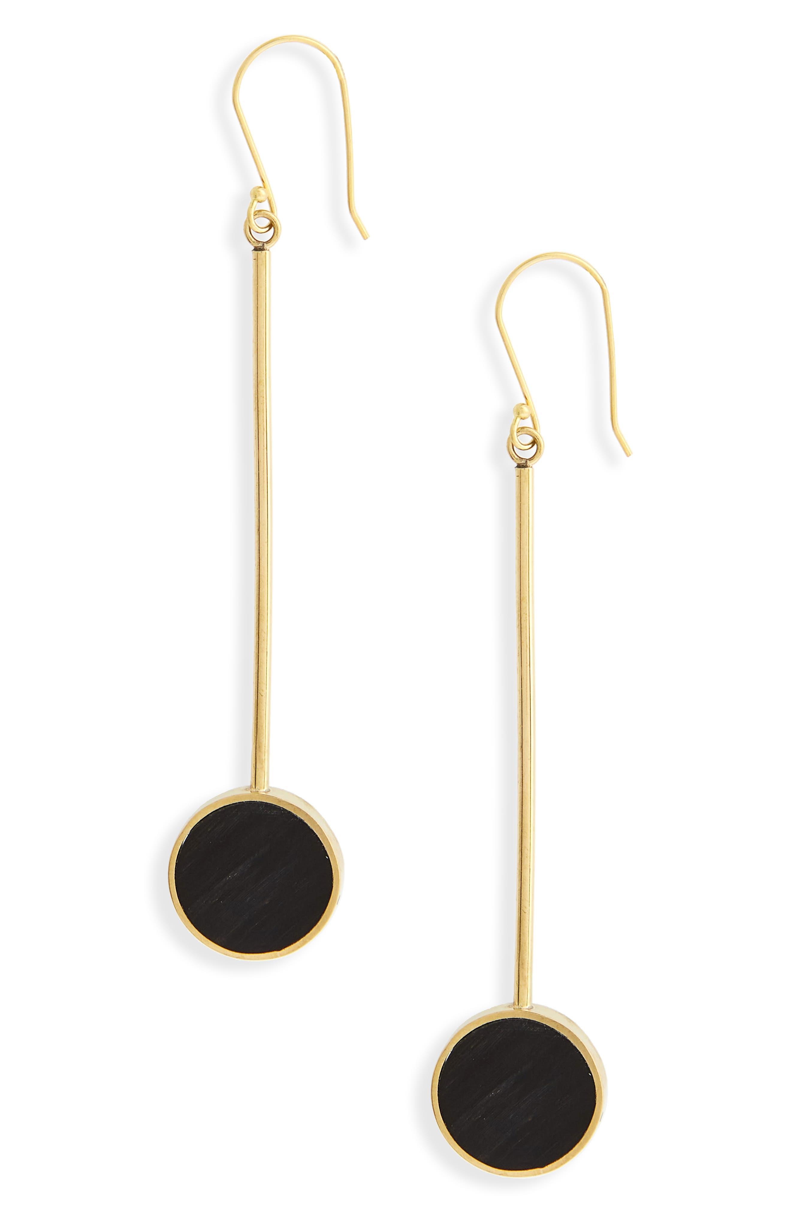SOKO,                             Maxi Dot Drop Earrings,                             Main thumbnail 1, color,                             001