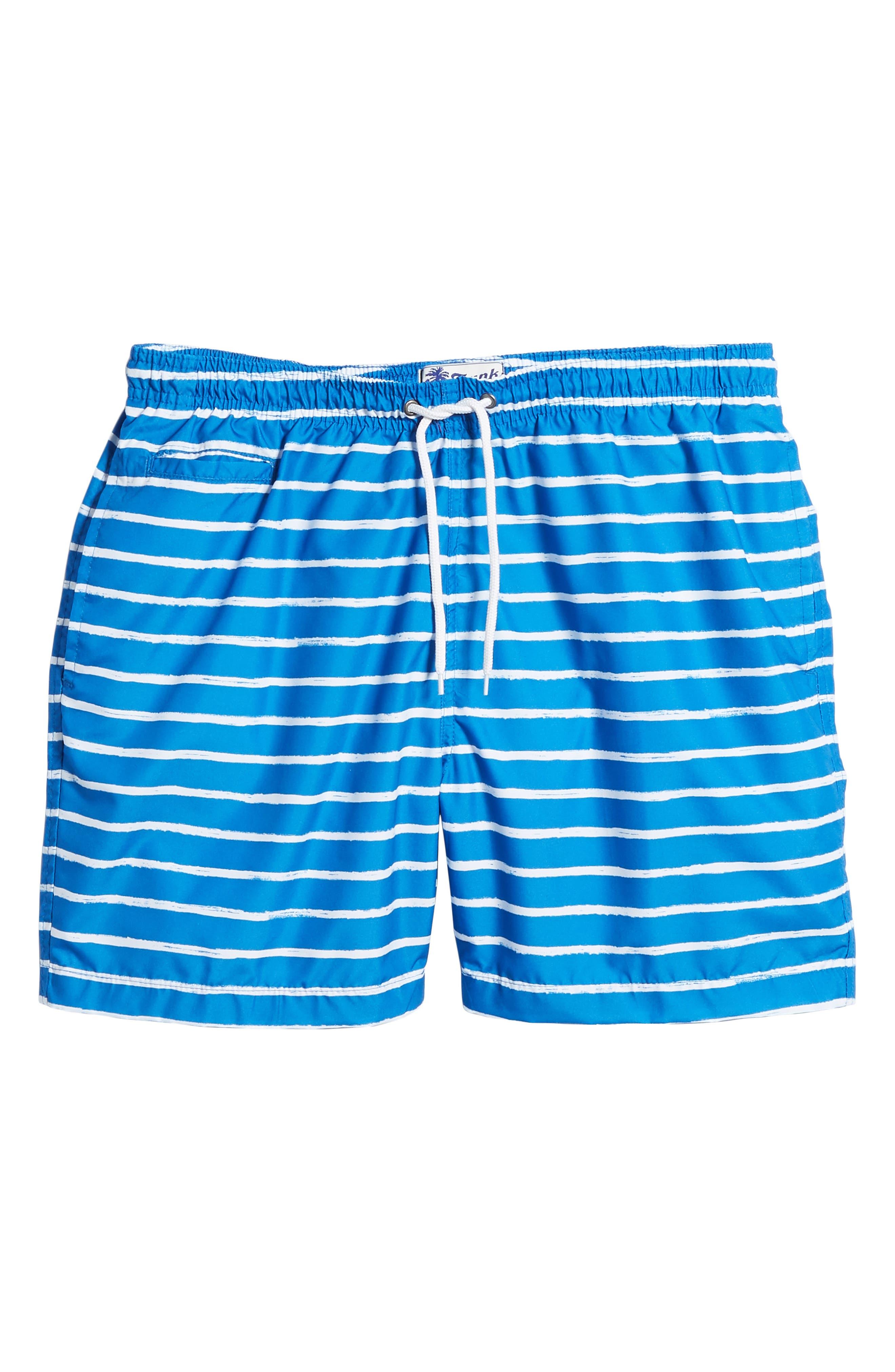 San O Stripe Swim Trunks,                             Alternate thumbnail 6, color,                             416