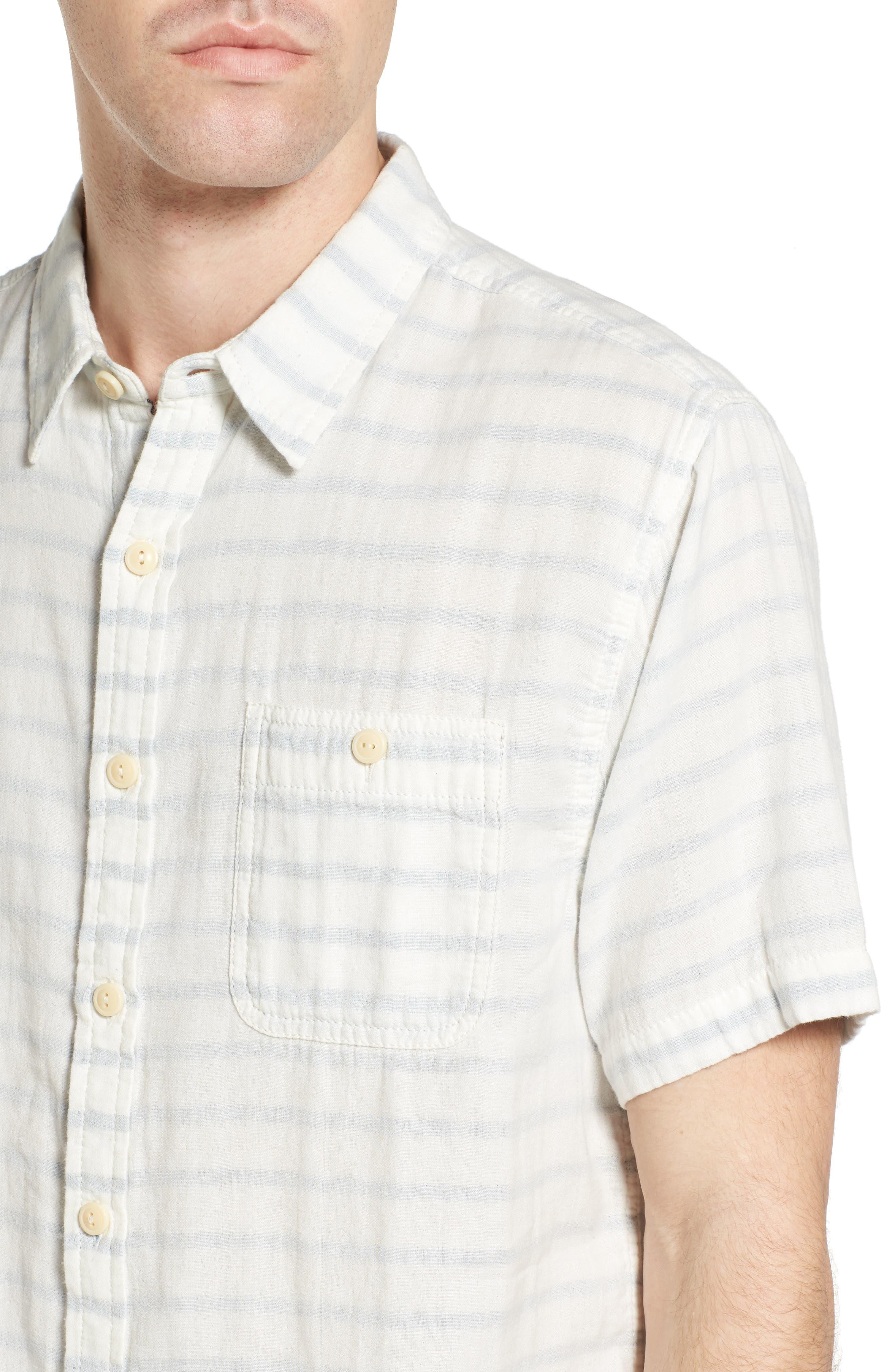 Newport Stripe Sport Shirt,                             Alternate thumbnail 4, color,                             100