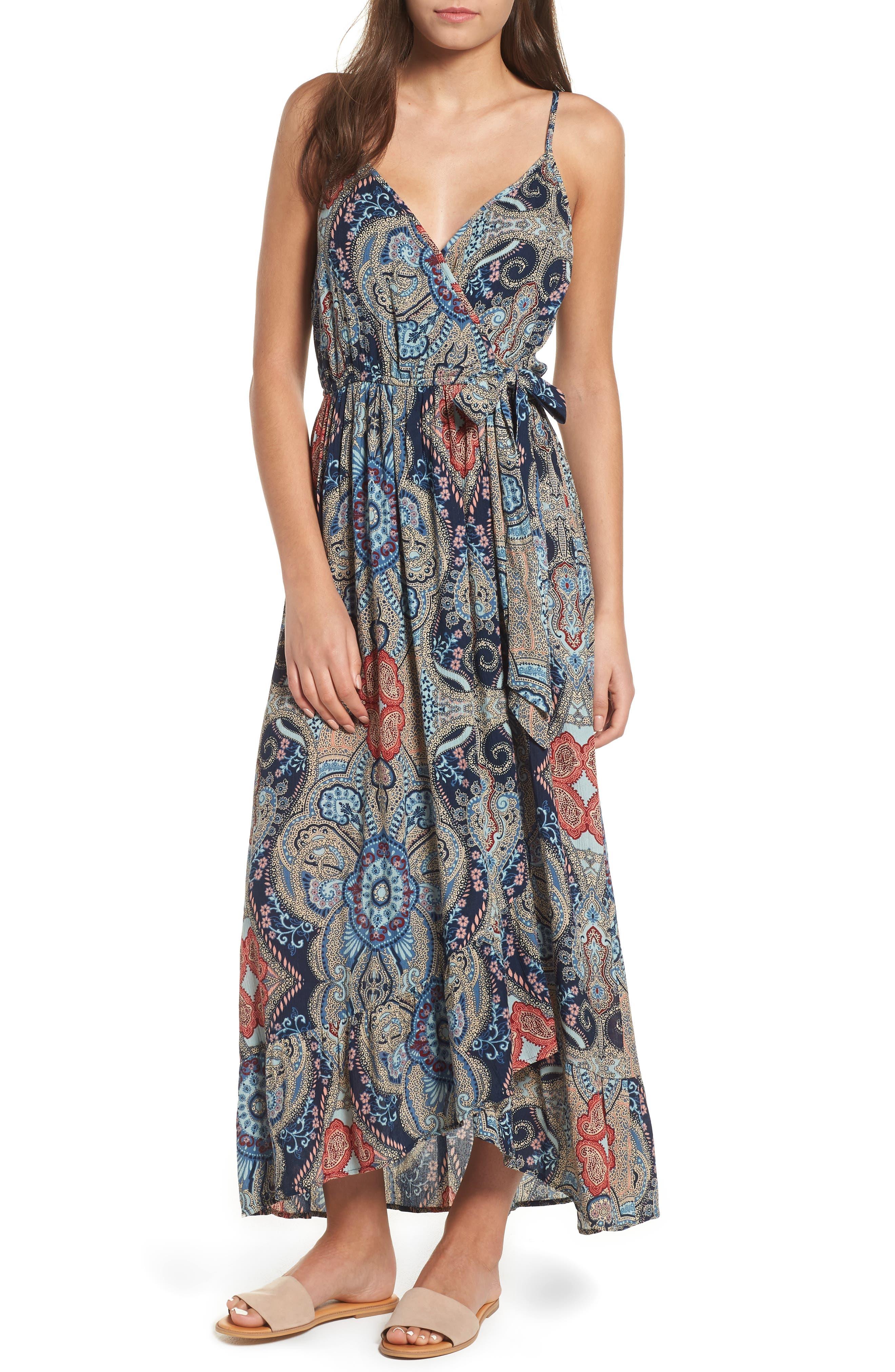 Kenzie Faux Wrap Dress,                         Main,                         color, 459