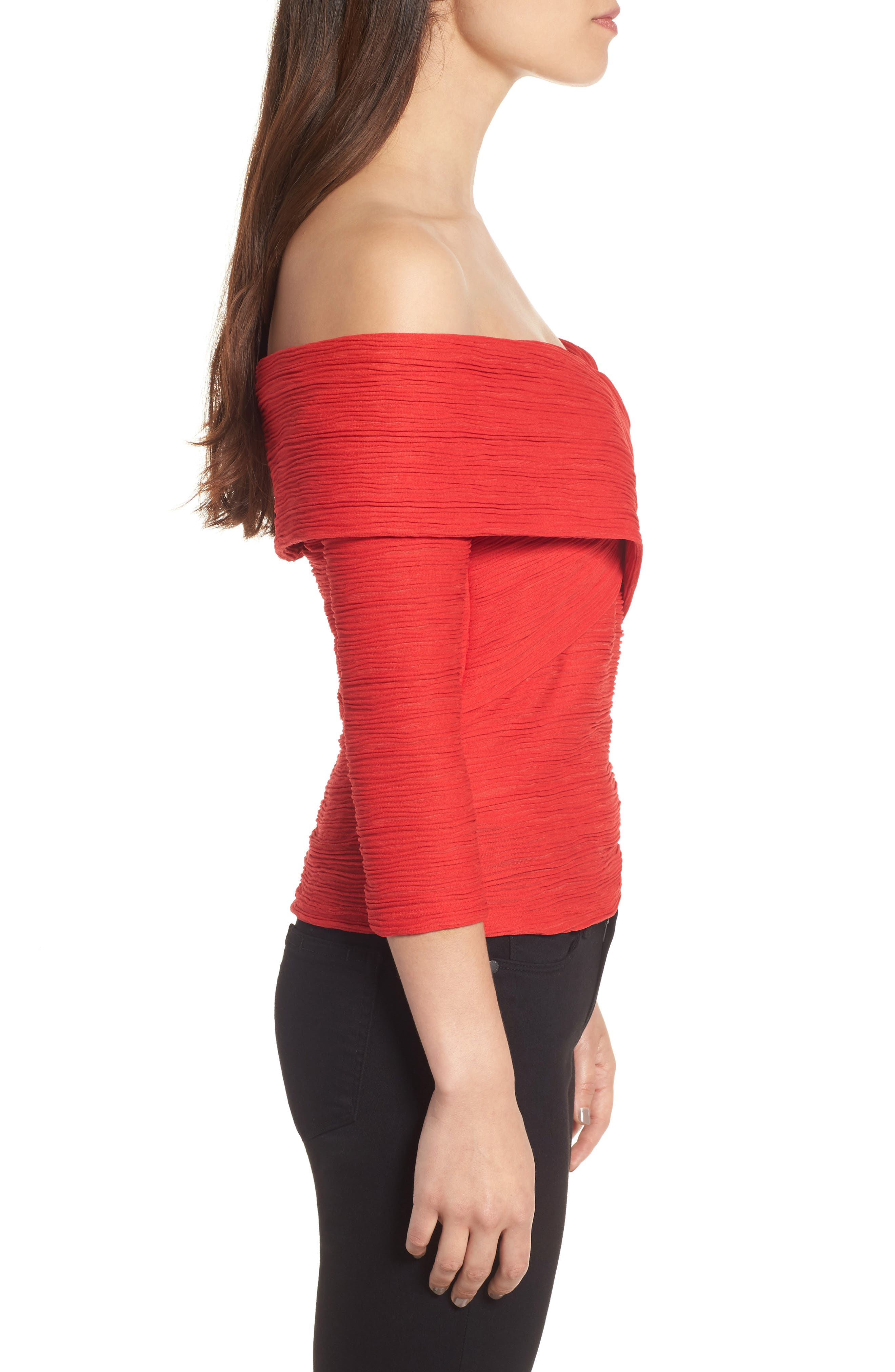 Crossover Stripe Top,                             Alternate thumbnail 3, color,                             610