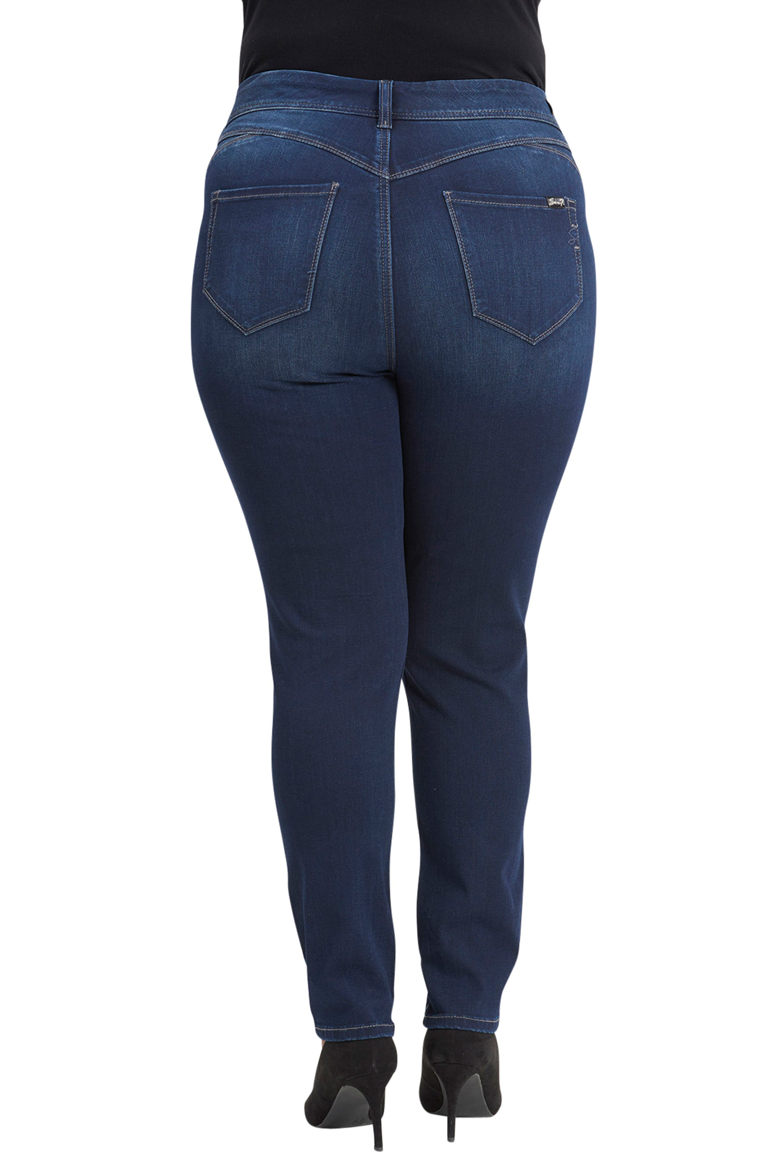 Bootyshaper Skinny Jeans,                             Alternate thumbnail 2, color,                             BLUE