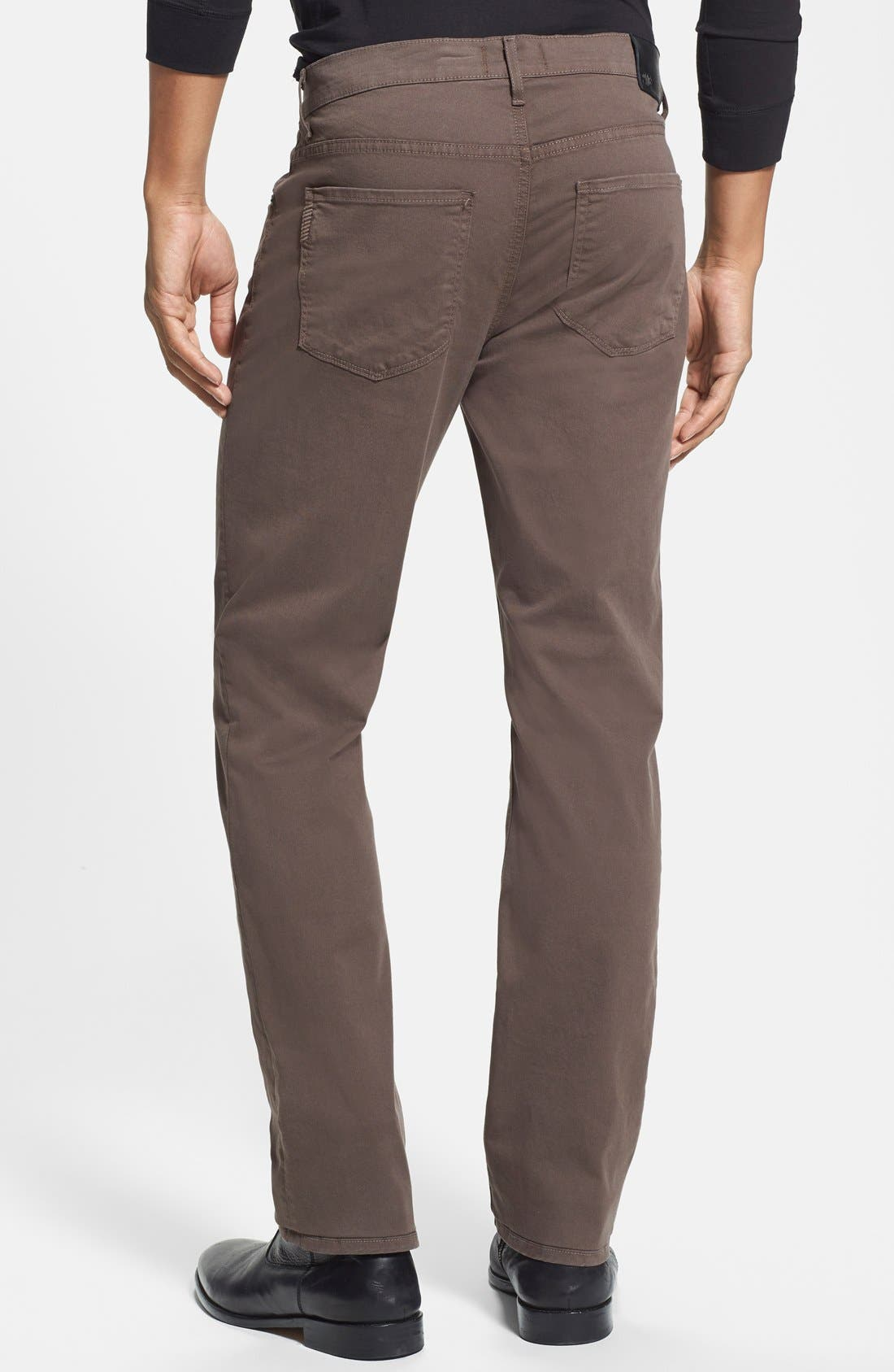 Normandie Slim Straight Leg Twill Pants,                             Alternate thumbnail 19, color,