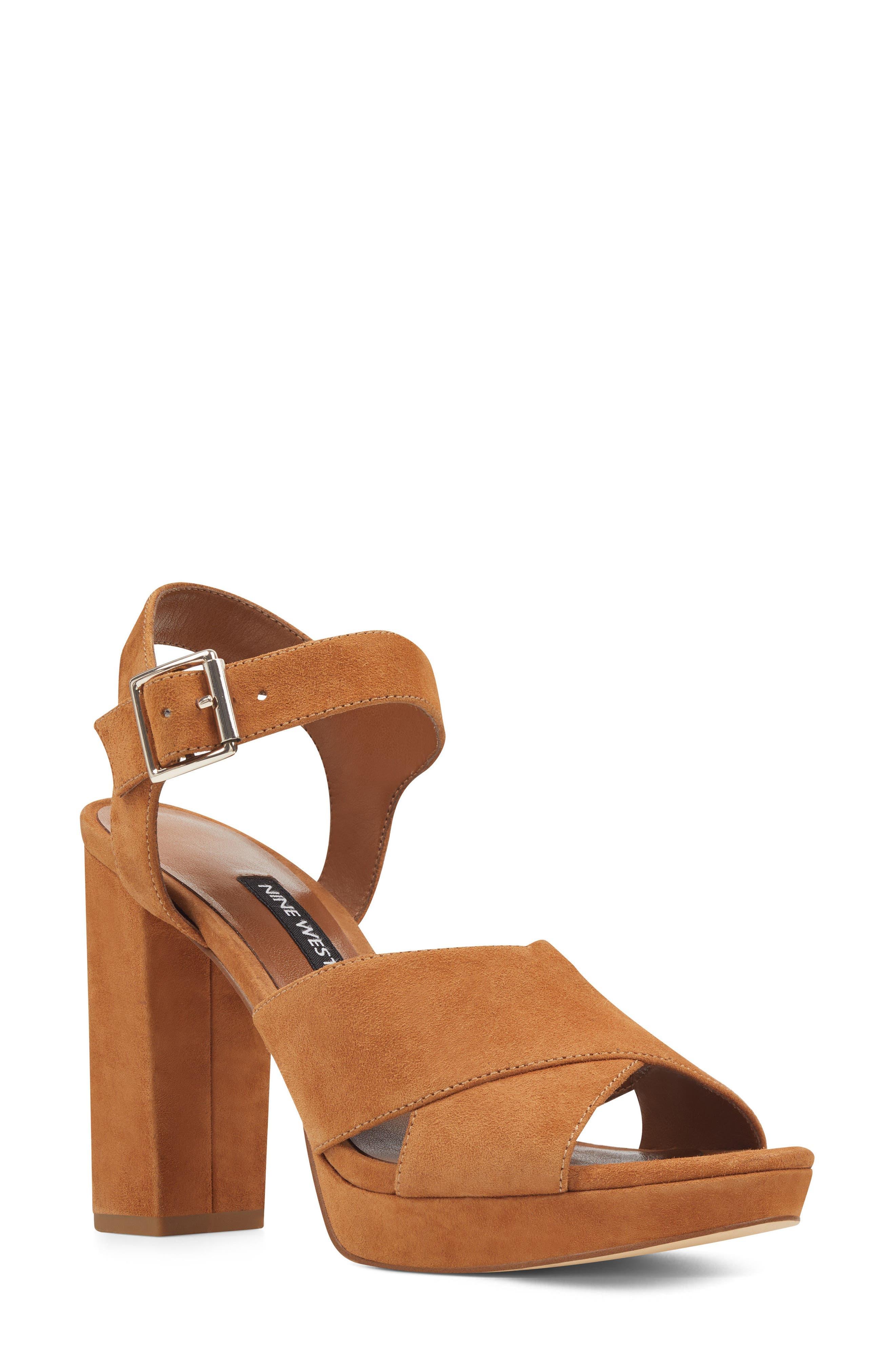 Jimar Platform Sandal,                         Main,                         color, DARK NATURAL SUEDE