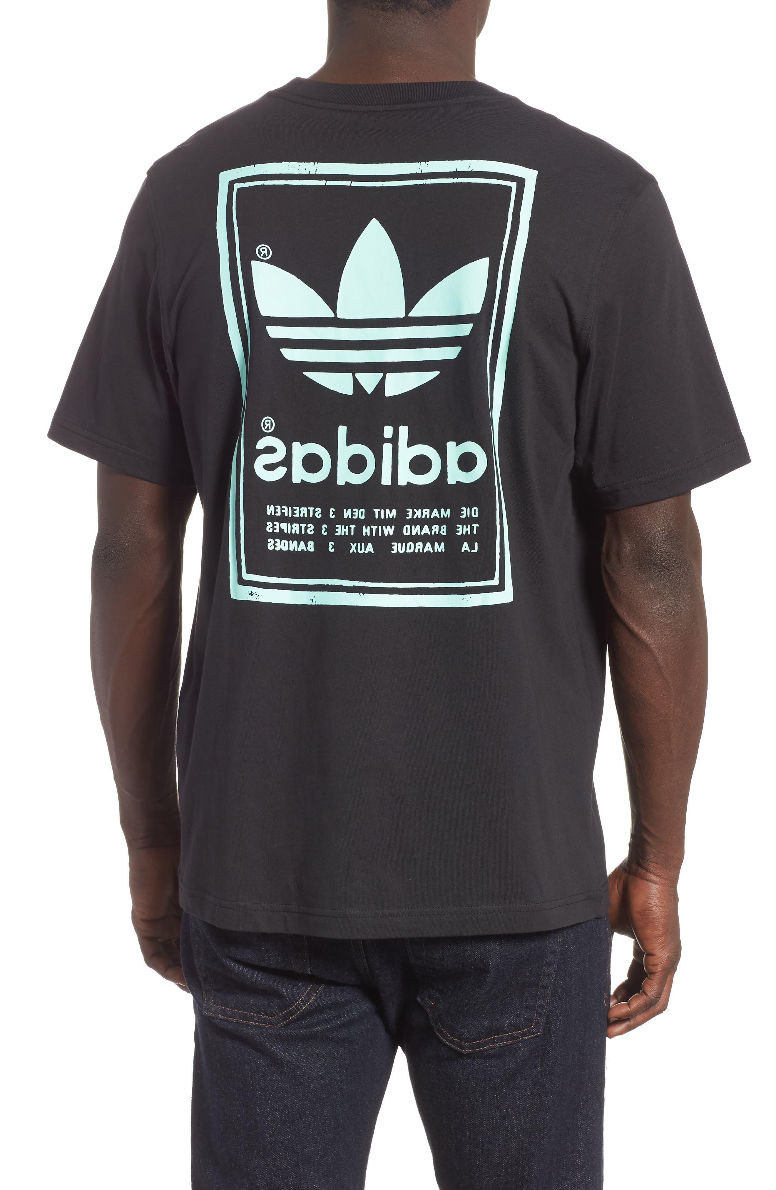 Vintage Logo Graphic T-Shirt,                             Alternate thumbnail 2, color,                             BLACK