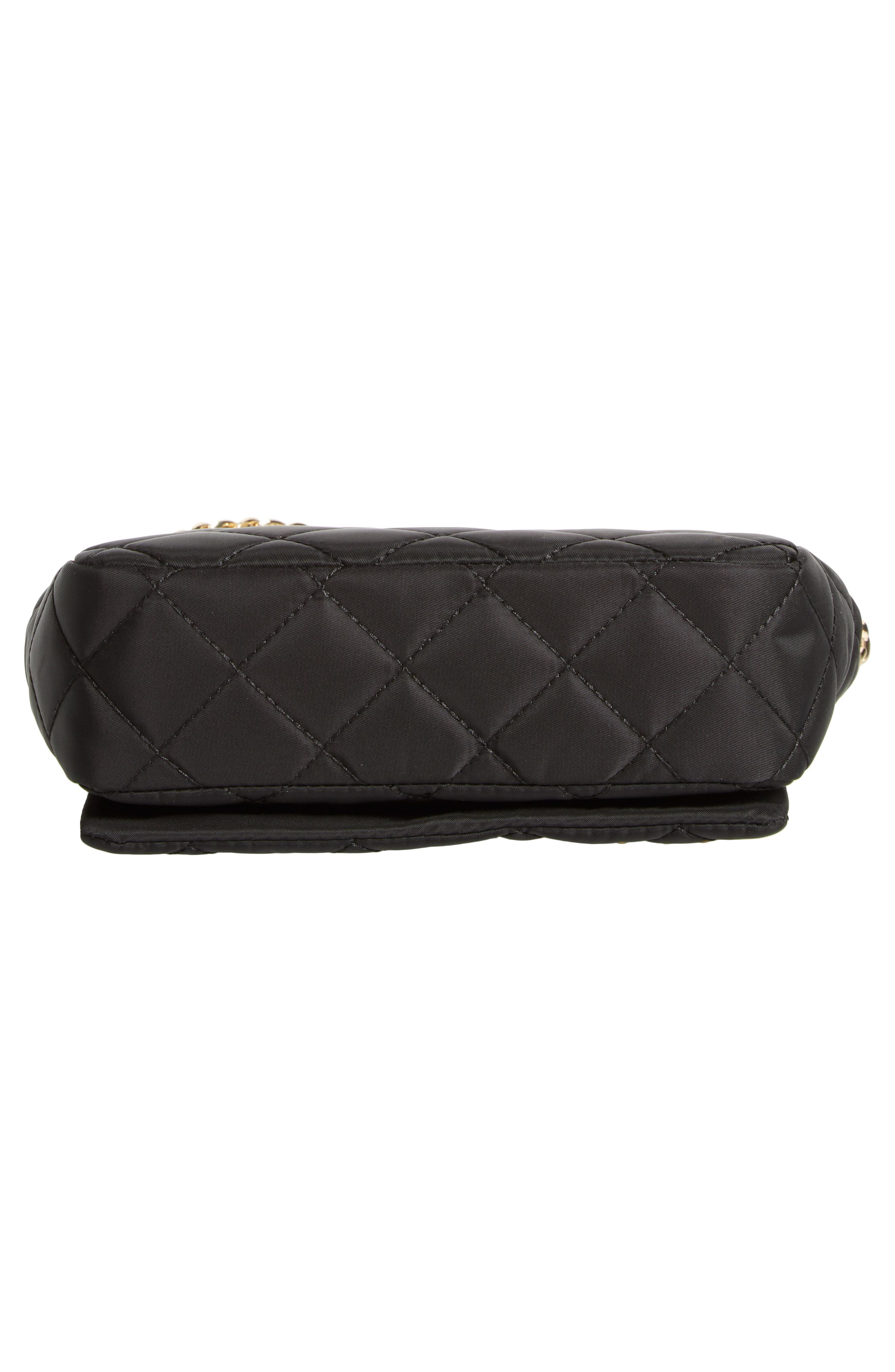 Studded Logo Quilted Nylon Shoulder Bag,                             Alternate thumbnail 6, color,                             115
