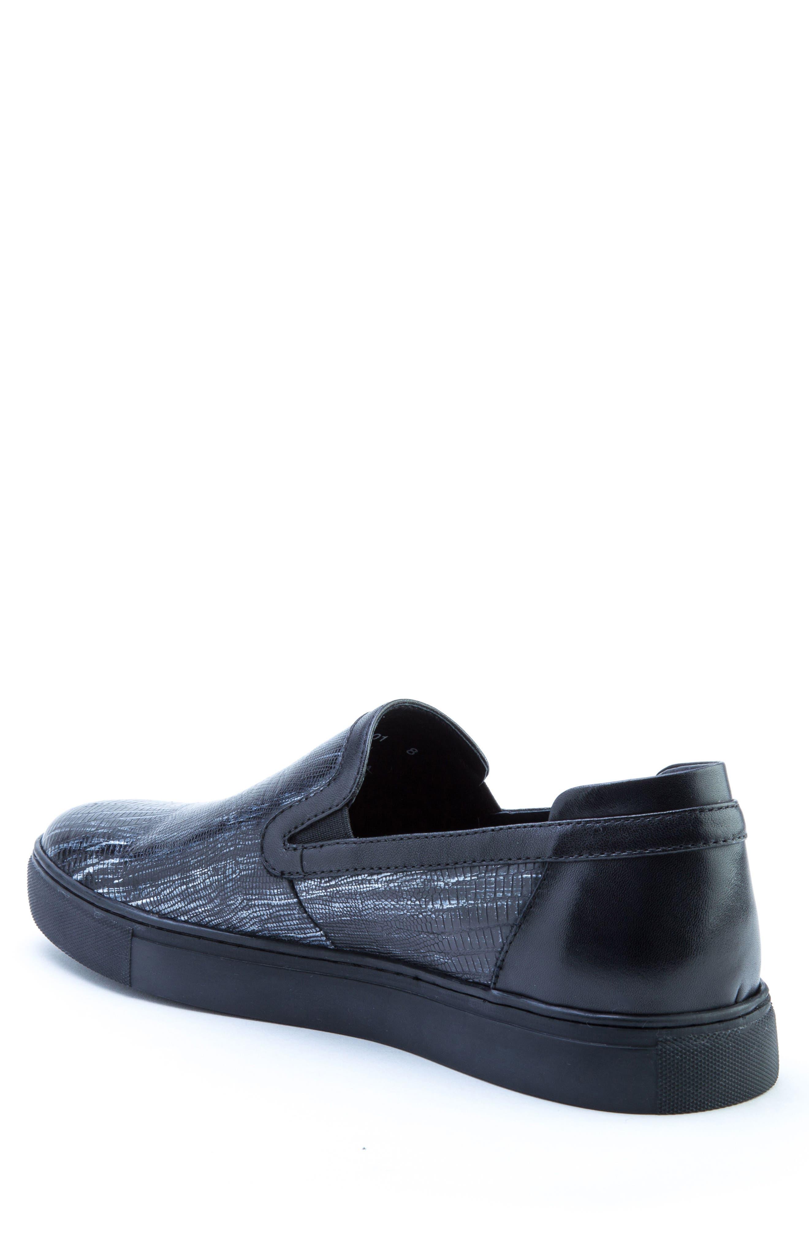 Bogart Sneaker,                             Alternate thumbnail 2, color,                             BLACK LEATHER