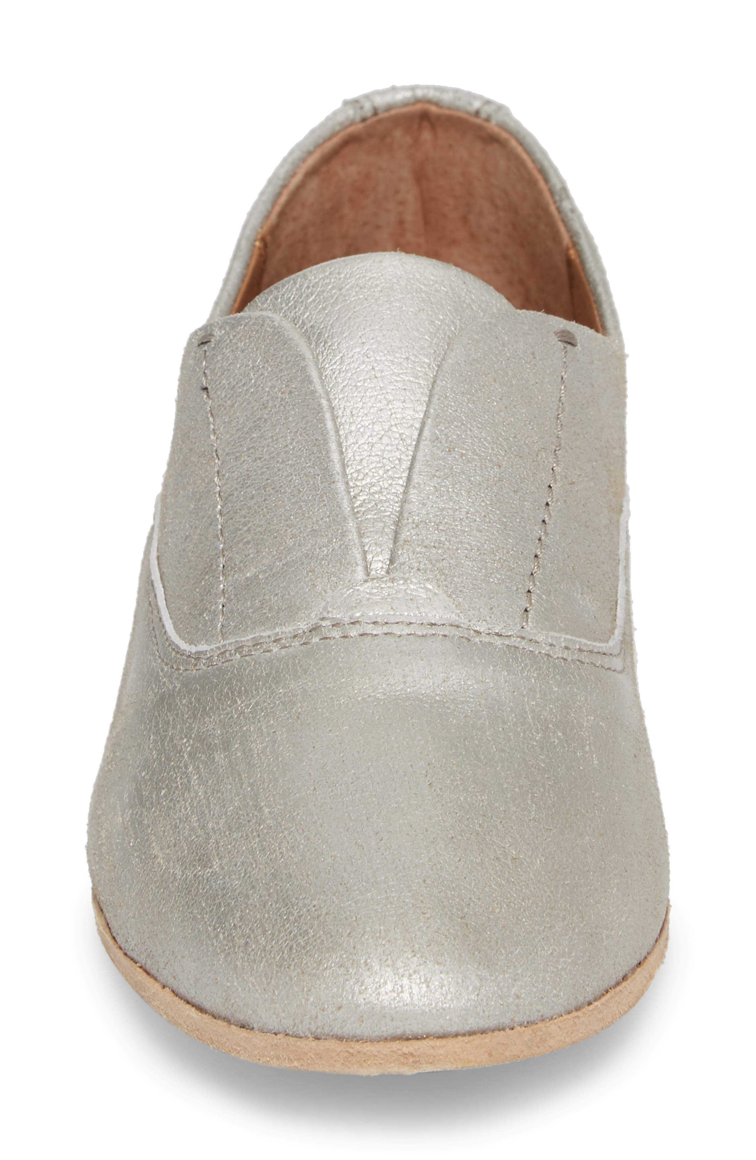 Terri Laceless Oxford,                             Alternate thumbnail 4, color,                             SILVER LEATHER