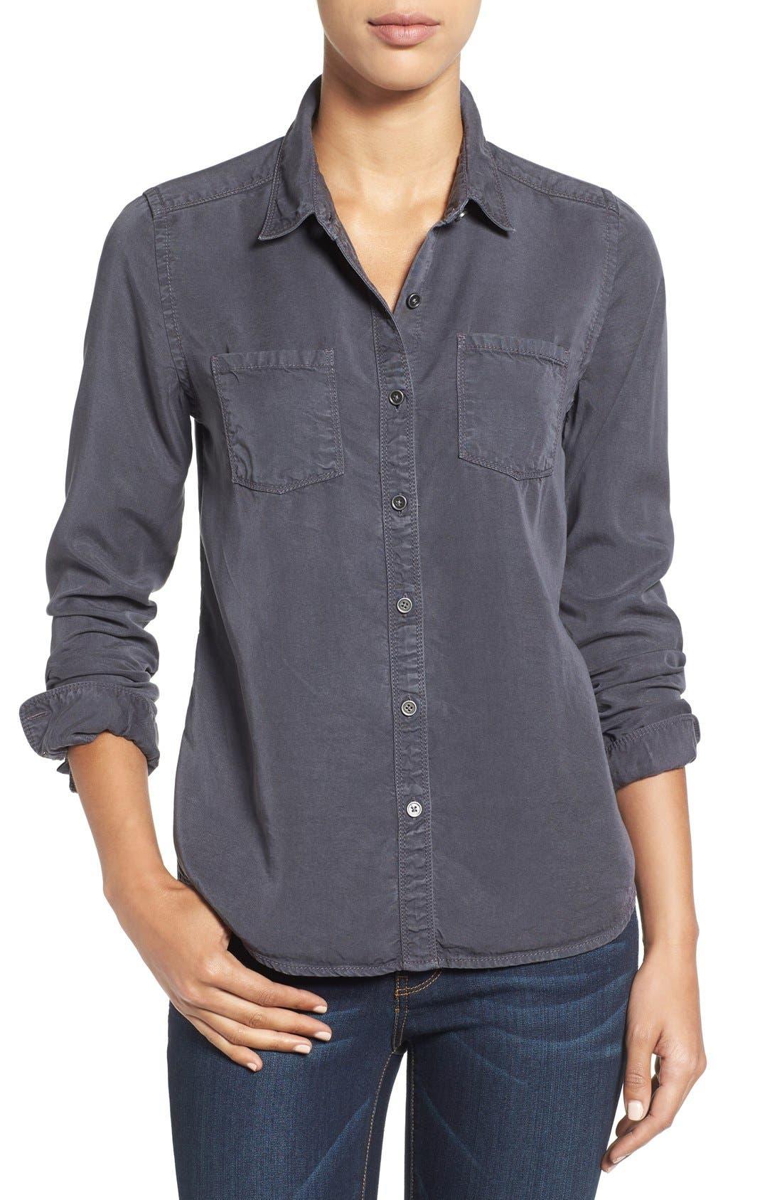 CASLON<SUP>®</SUP>,                             Long Sleeve Denim Shirt,                             Main thumbnail 1, color,                             030