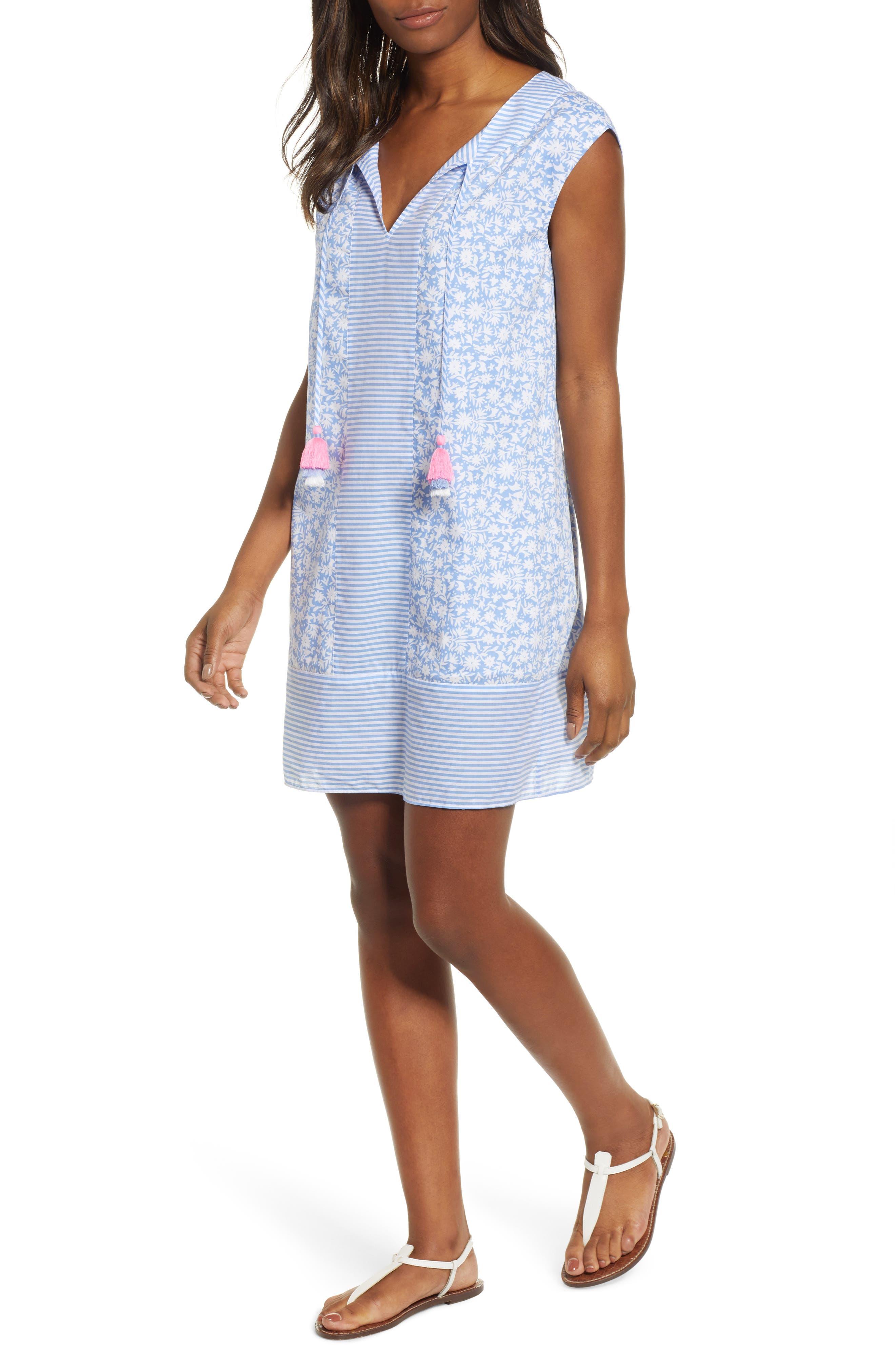 Somerset Tunic Dress,                         Main,                         color, HYDRANGEA
