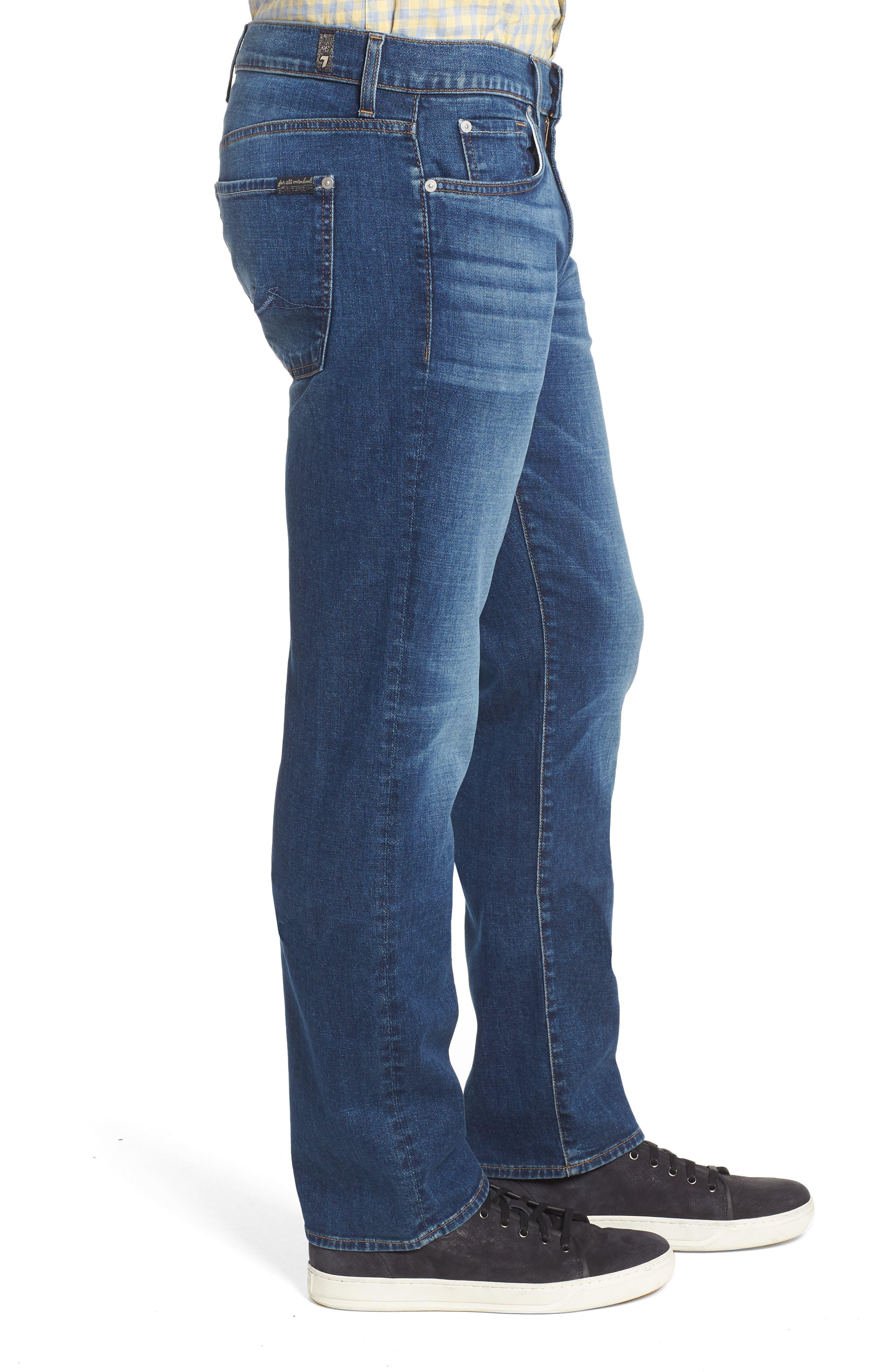 Standard Straight Leg Jeans,                             Alternate thumbnail 3, color,                             400