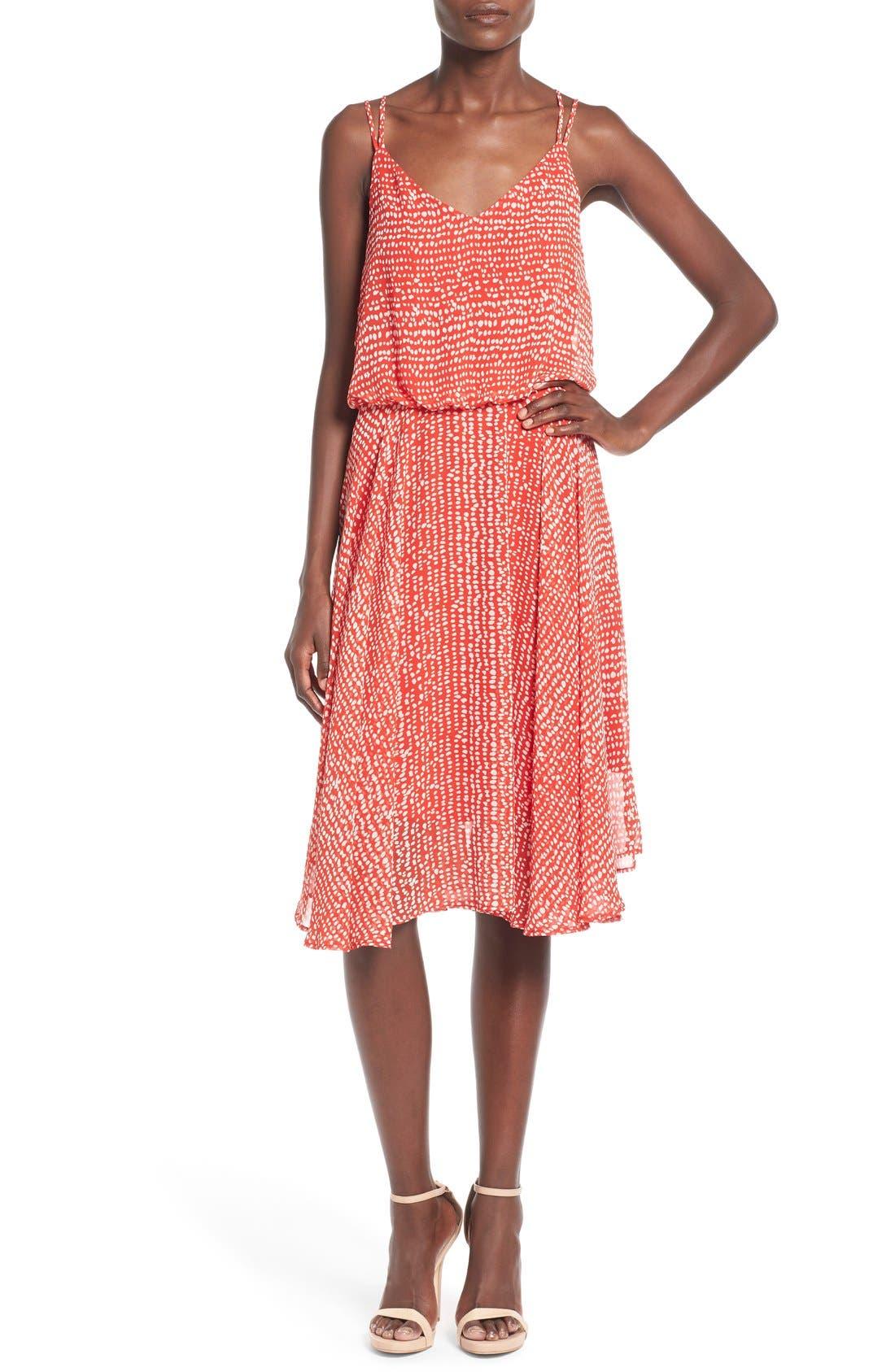 Midi Swing Dress,                             Main thumbnail 1, color,                             610
