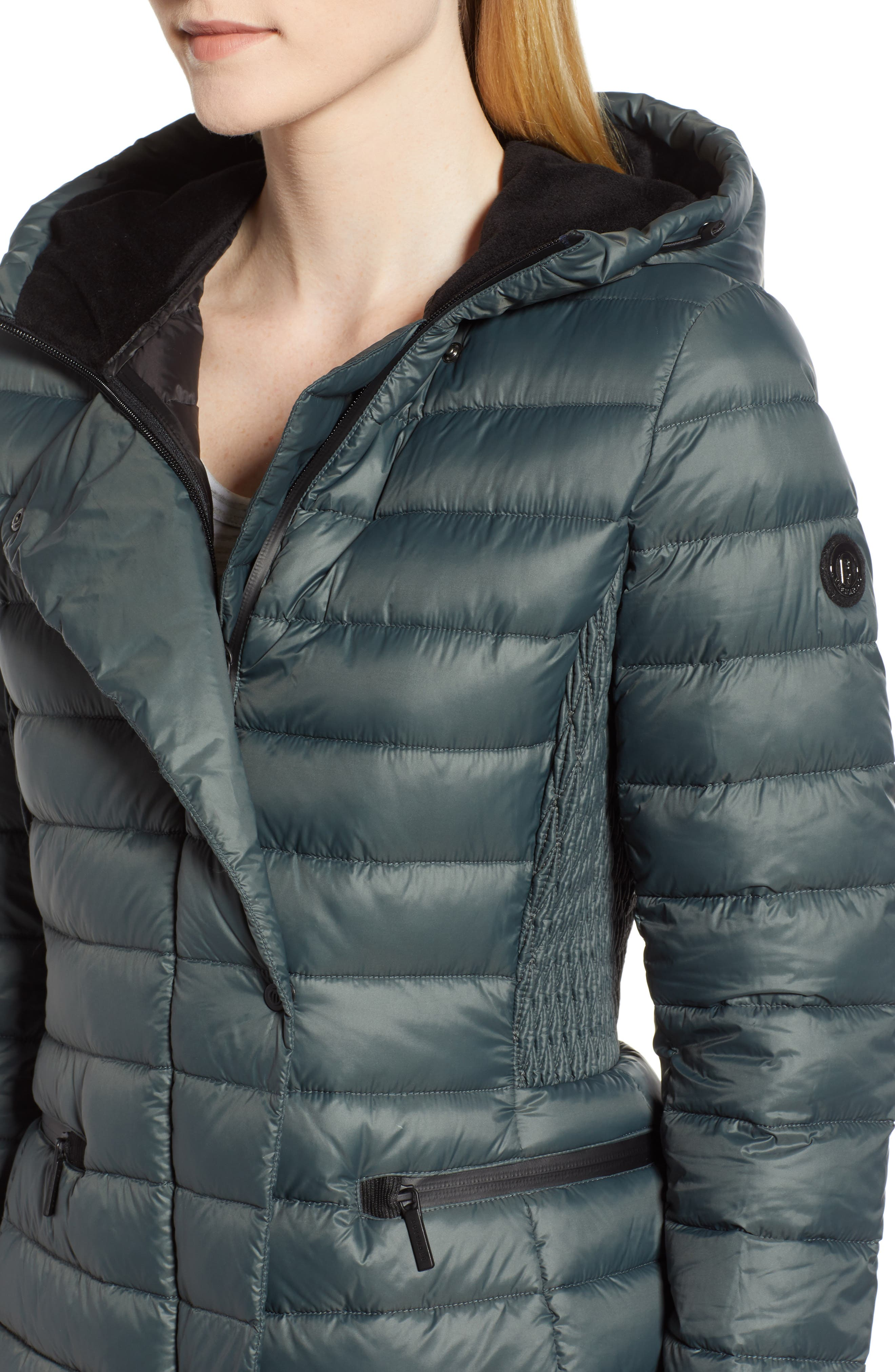 Sporty Hooded Puffer Jacket,                             Alternate thumbnail 4, color,                             309
