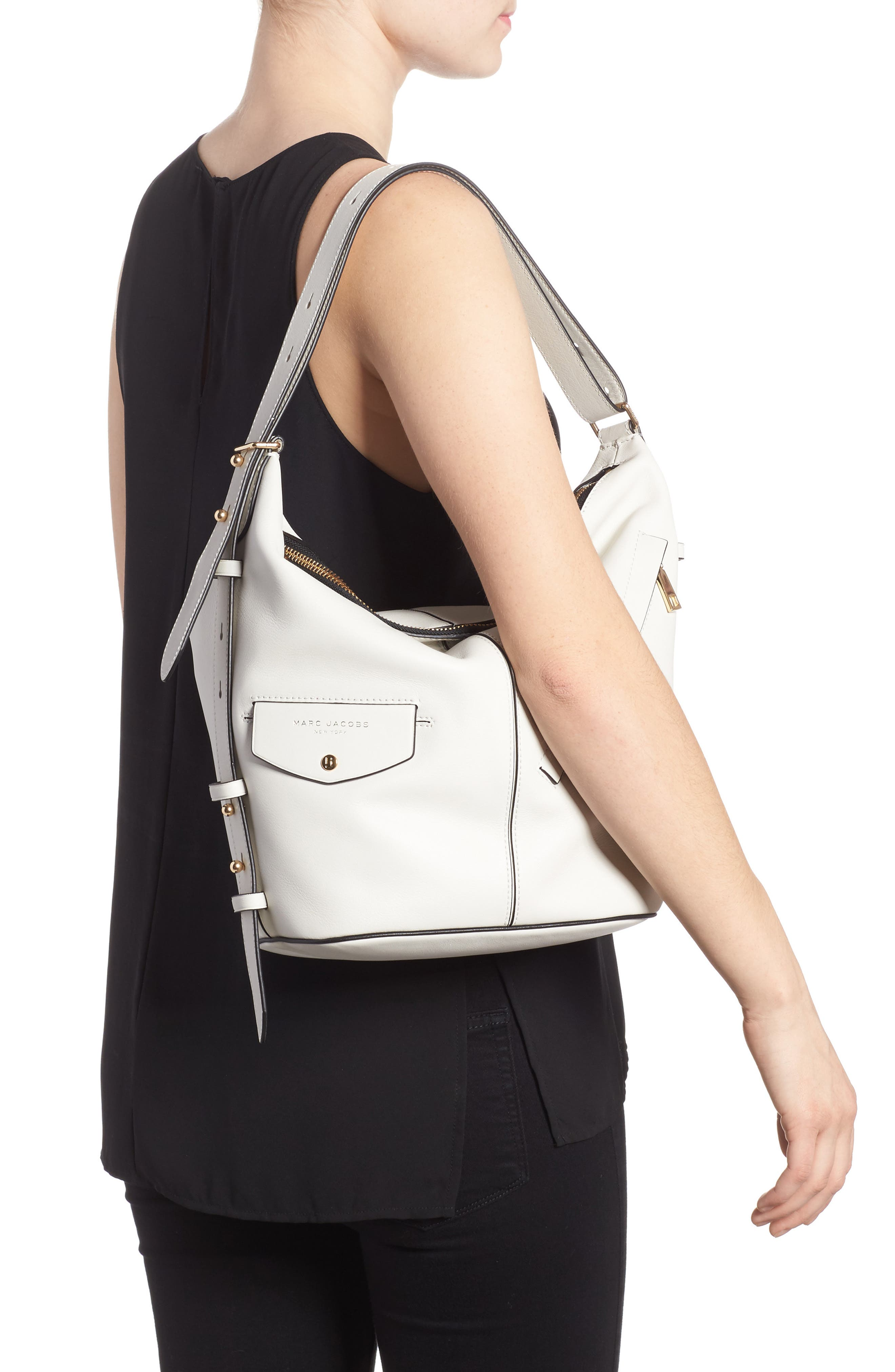 The Sling Convertible Leather Hobo,                             Alternate thumbnail 2, color,                             103